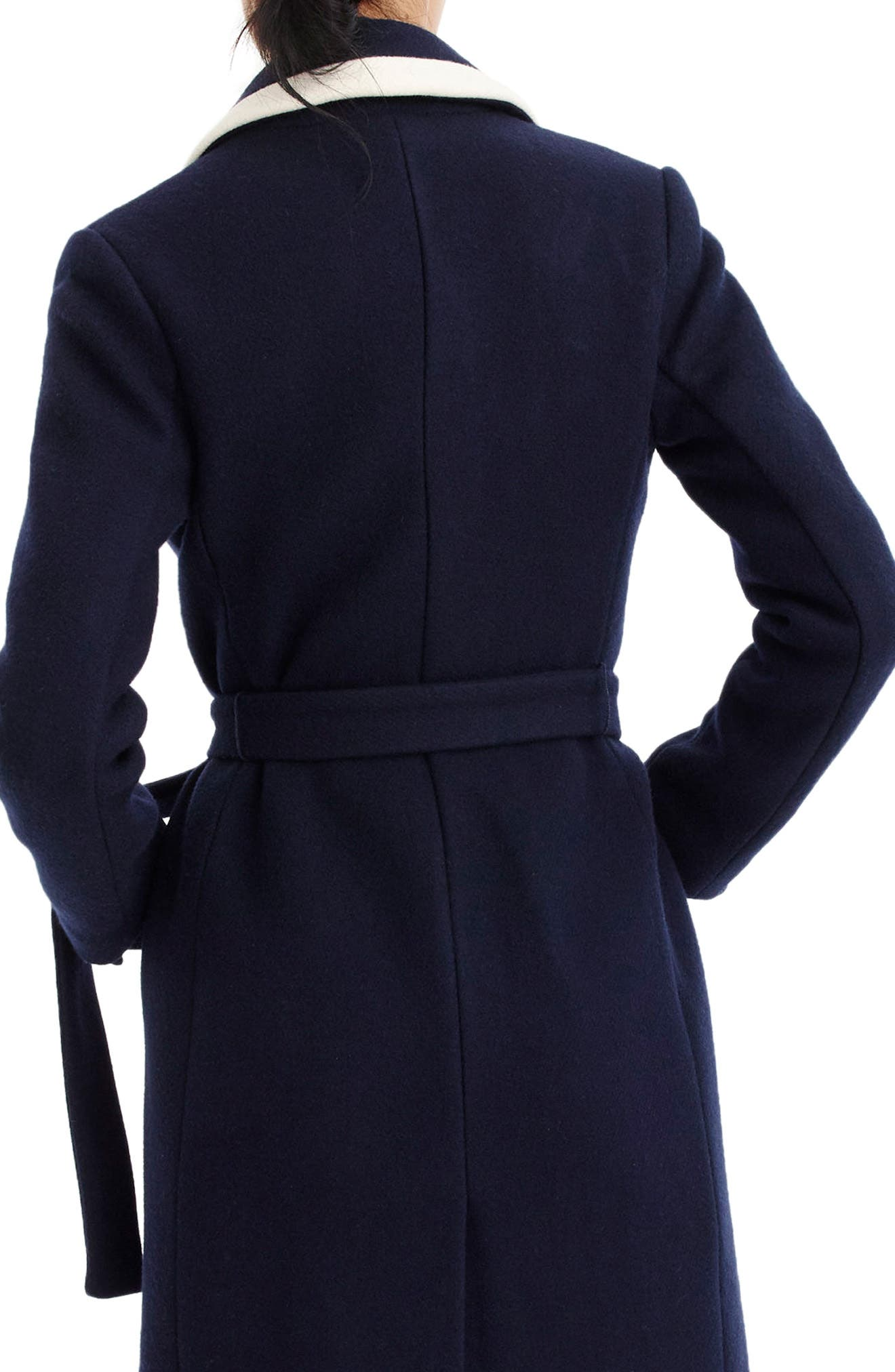 J.CREW,                             Tipped Wrapped Stadium Cloth Coat,                             Alternate thumbnail 2, color,                             400