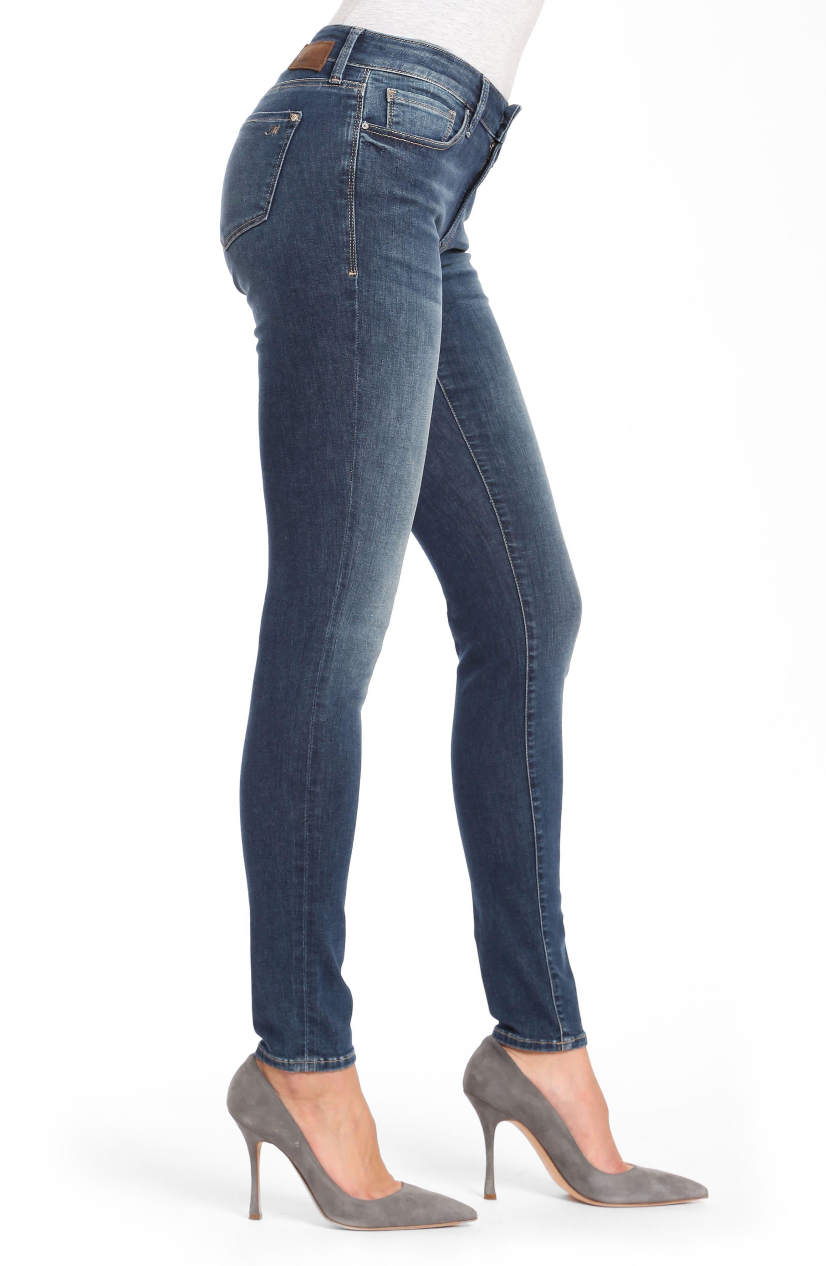 Mavi Adriana Skinny Jeans,                             Alternate thumbnail 3, color,                             420