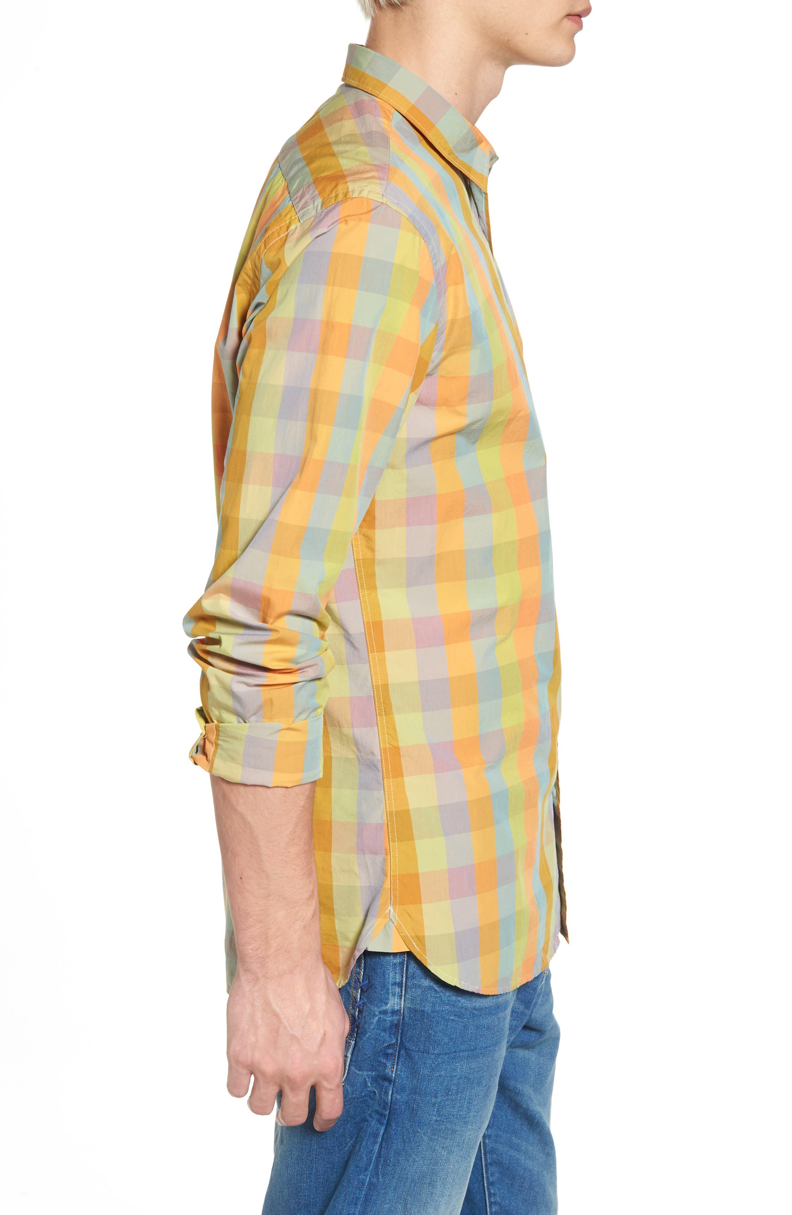 Slim Fit Poplin Shirt,                             Alternate thumbnail 3, color,                             400