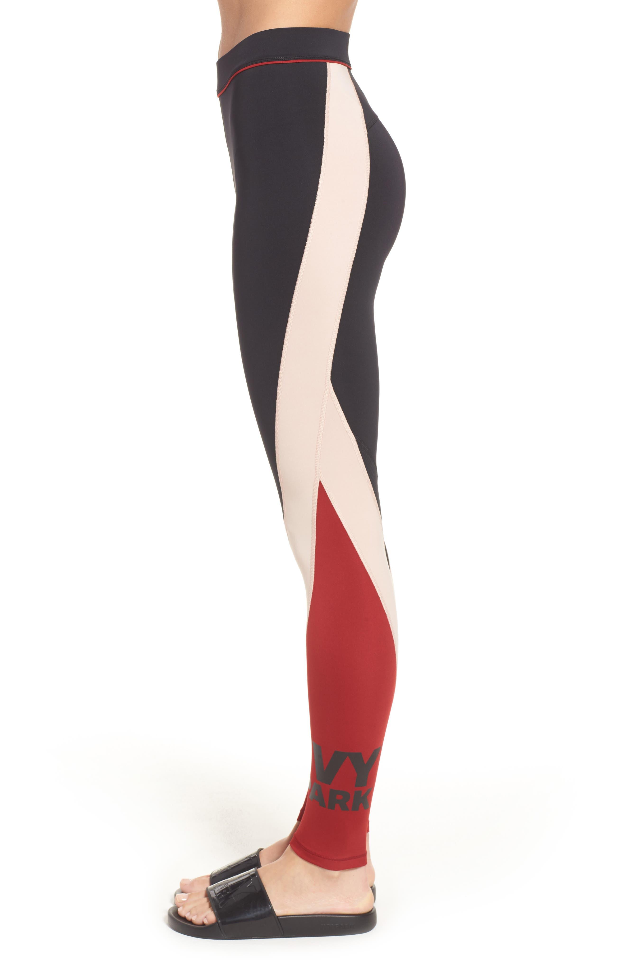 Colorblock Mid Rise Ankle Leggings,                             Alternate thumbnail 3, color,