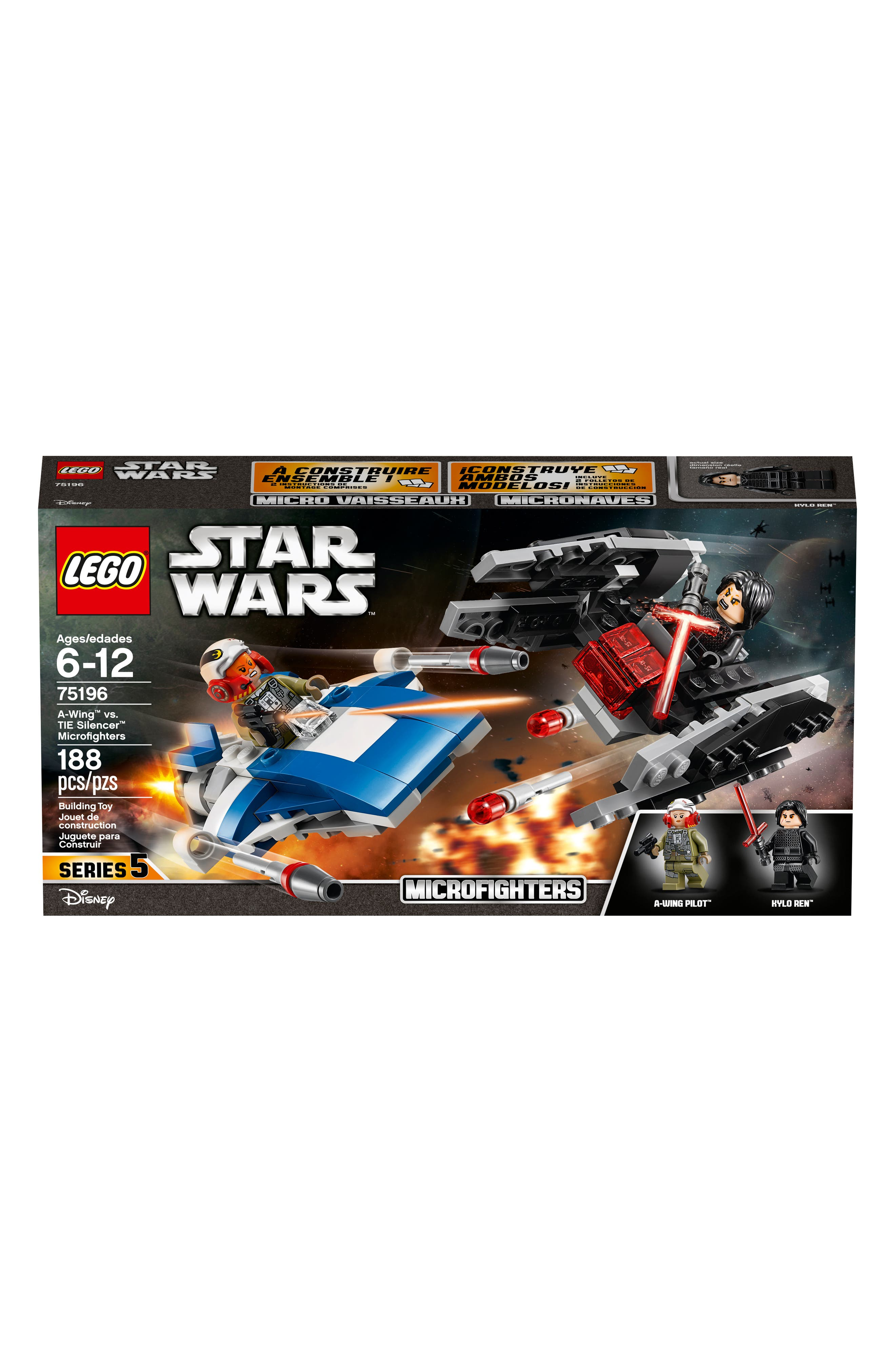 Star Wars<sup>®</sup> A-Wing vs. TIE Silencer Microfighters - 38602,                             Alternate thumbnail 2, color,                             MULTI