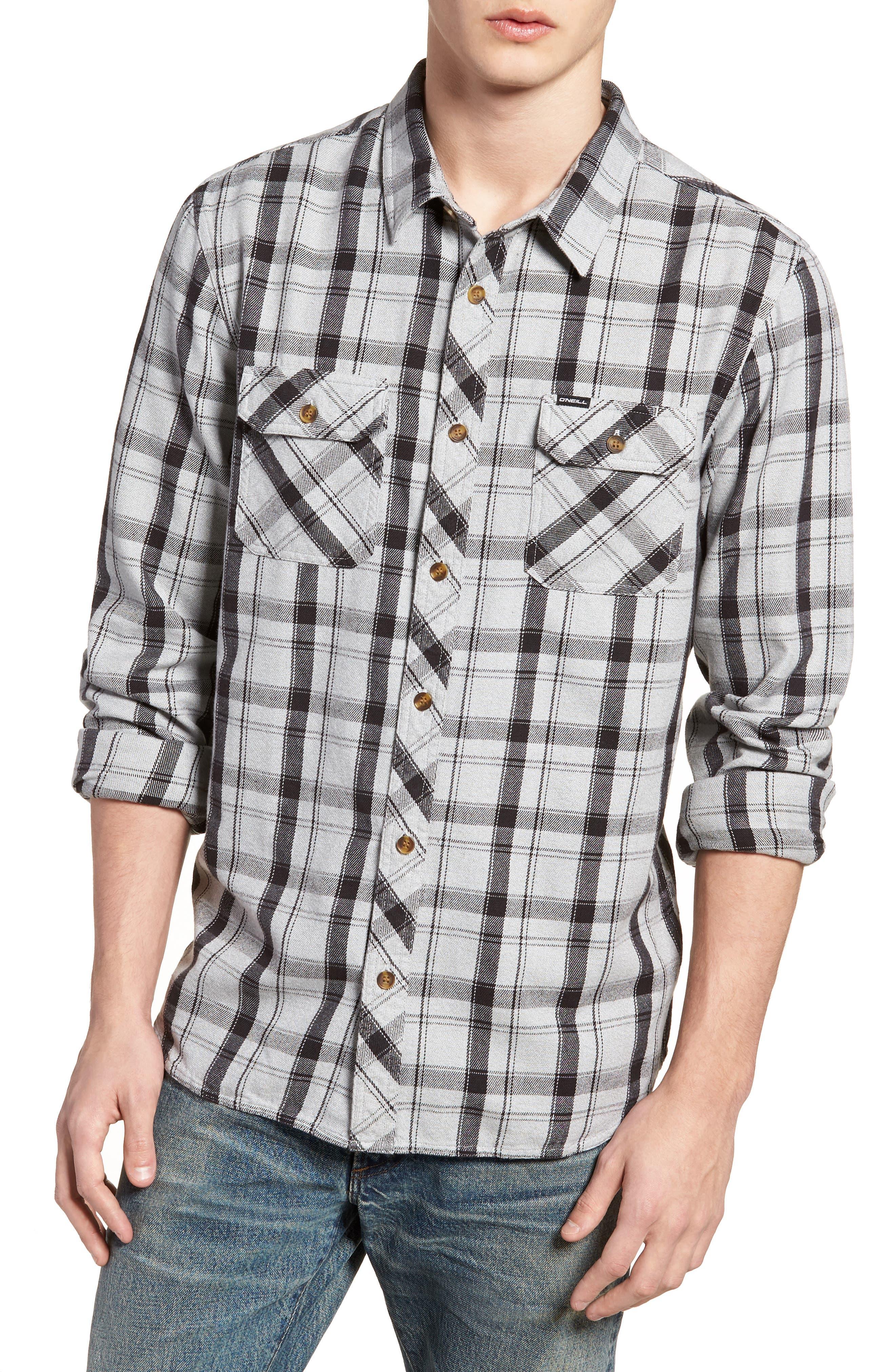 Carpenter Flannel Shirt,                         Main,                         color, 036