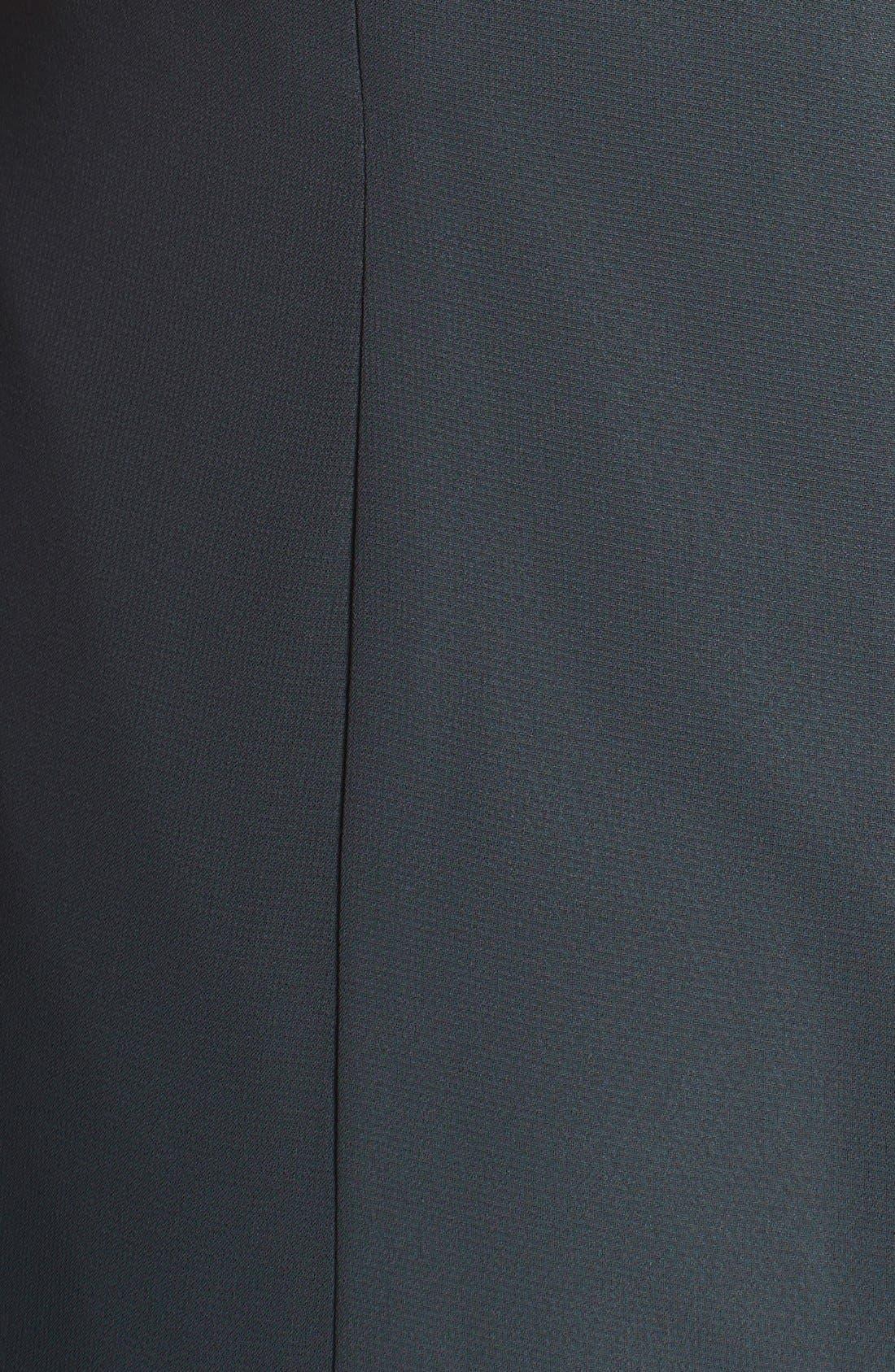 Raquel Front Slit Strapless Chiffon Gown,                             Alternate thumbnail 5, color,                             026