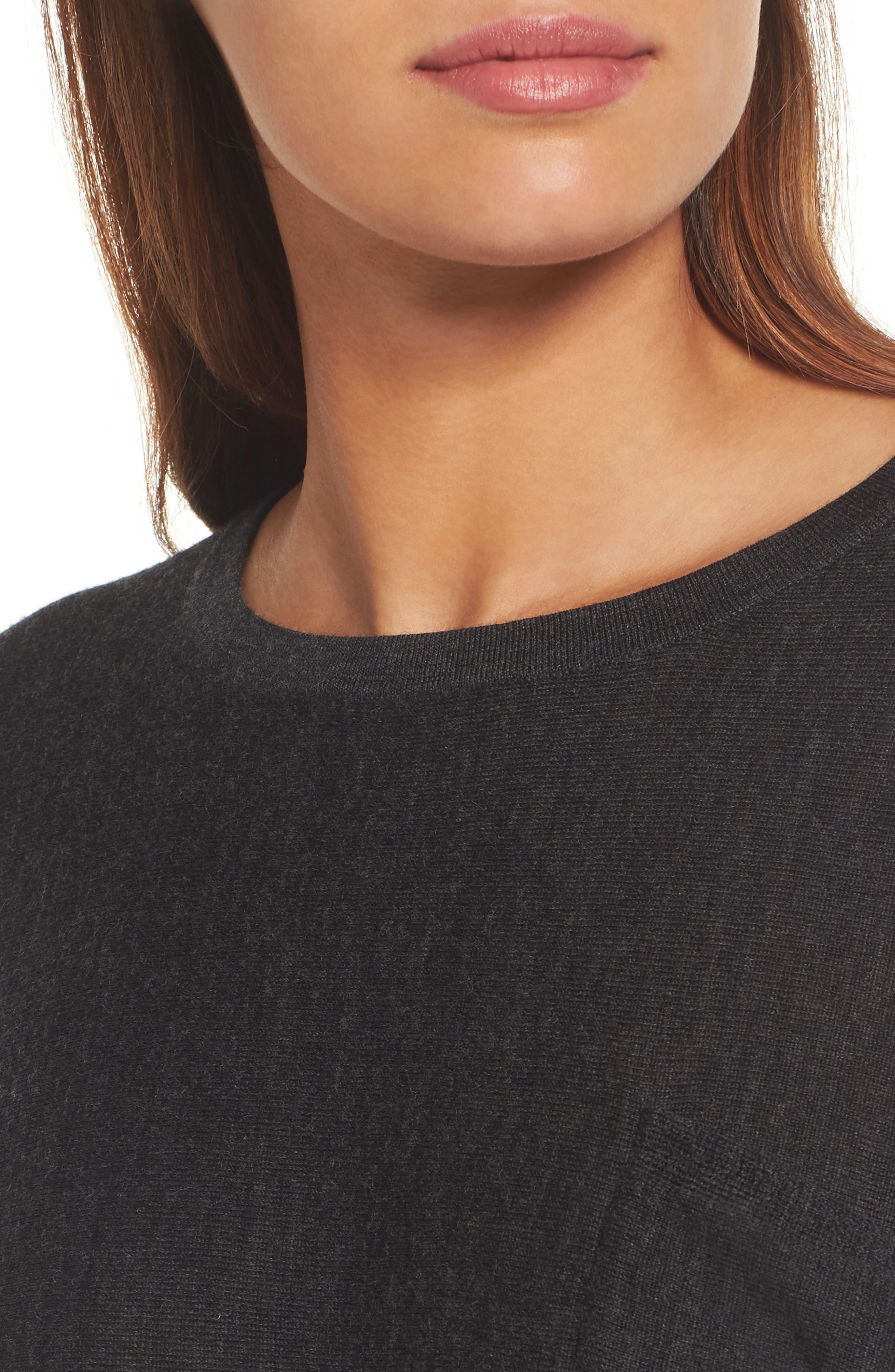 Lightweight Merino Wool Sweater,                             Alternate thumbnail 4, color,                             021
