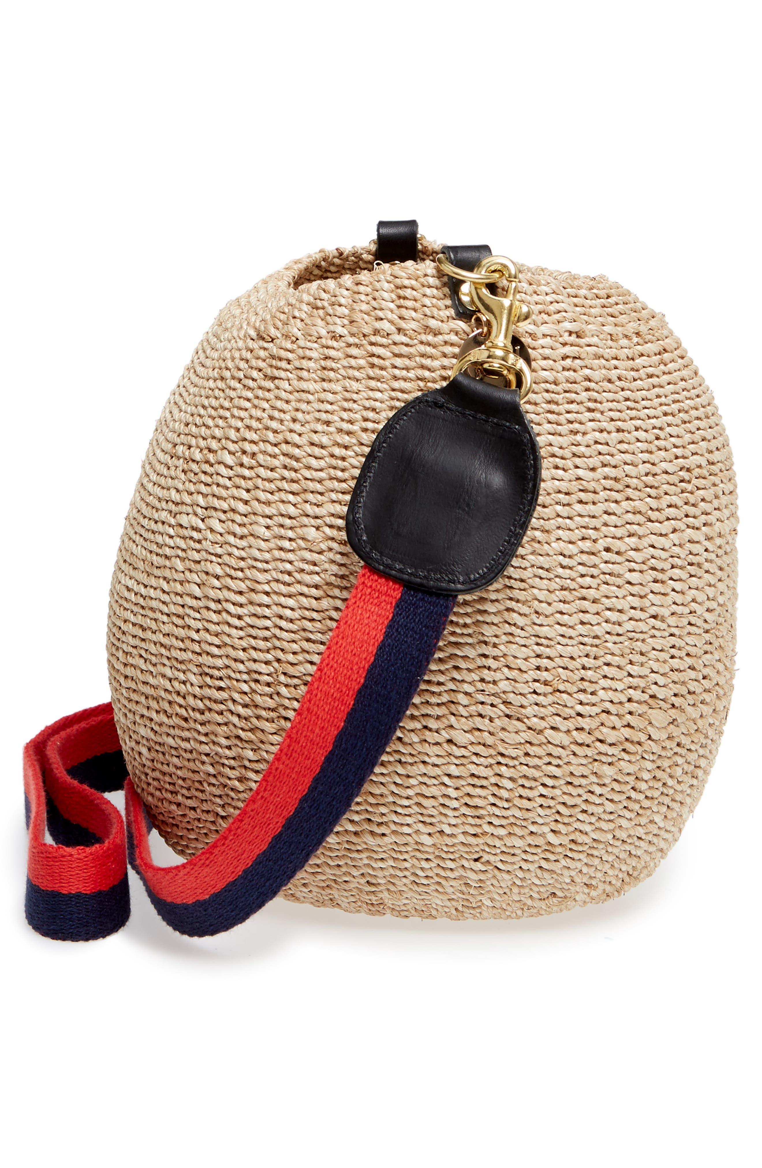 Pot de Miel Top Handle Straw Basket Bag,                             Alternate thumbnail 18, color,