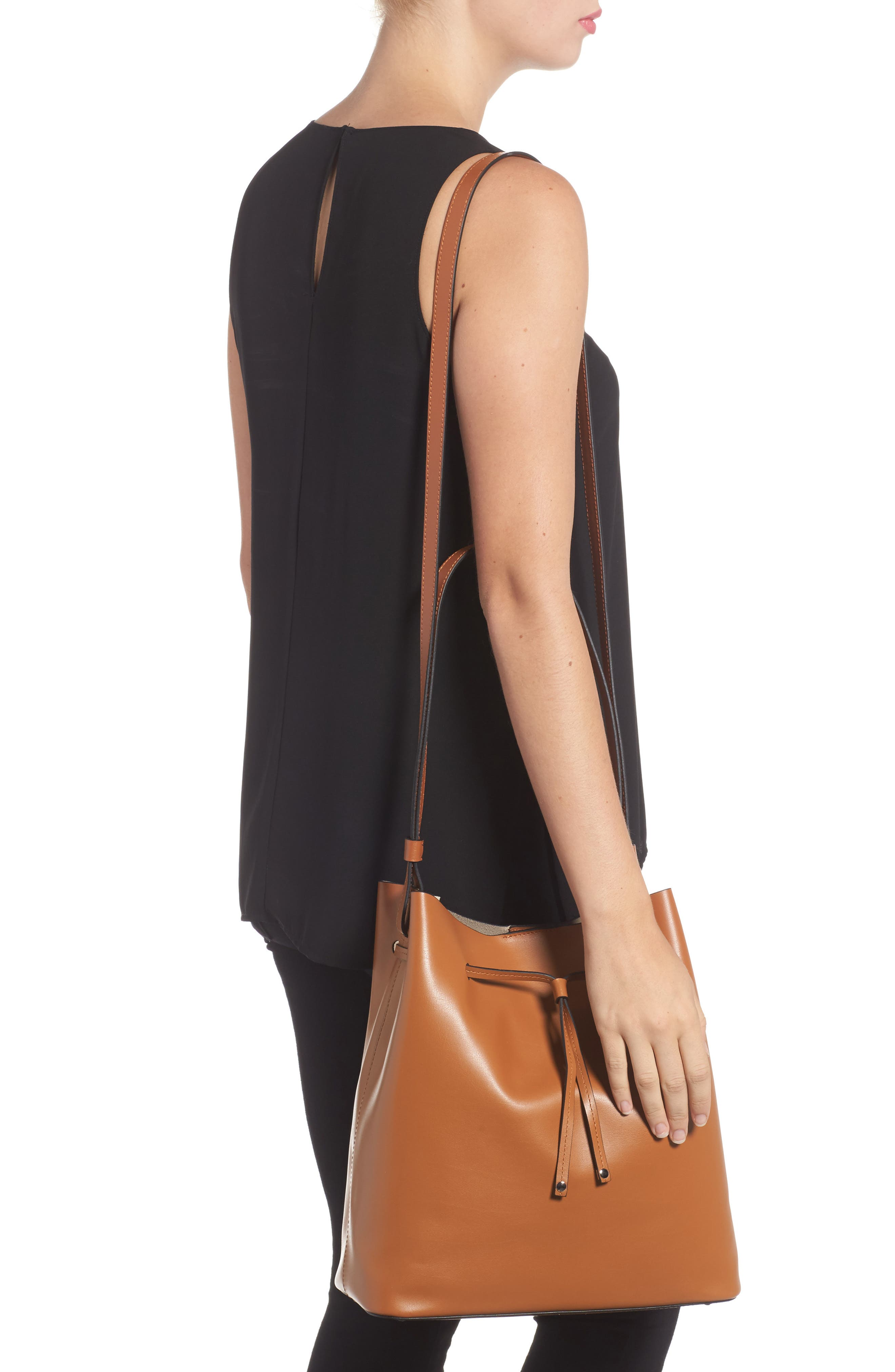 Silicon Valley Large Halina Leather Bucket Bag,                             Alternate thumbnail 5, color,