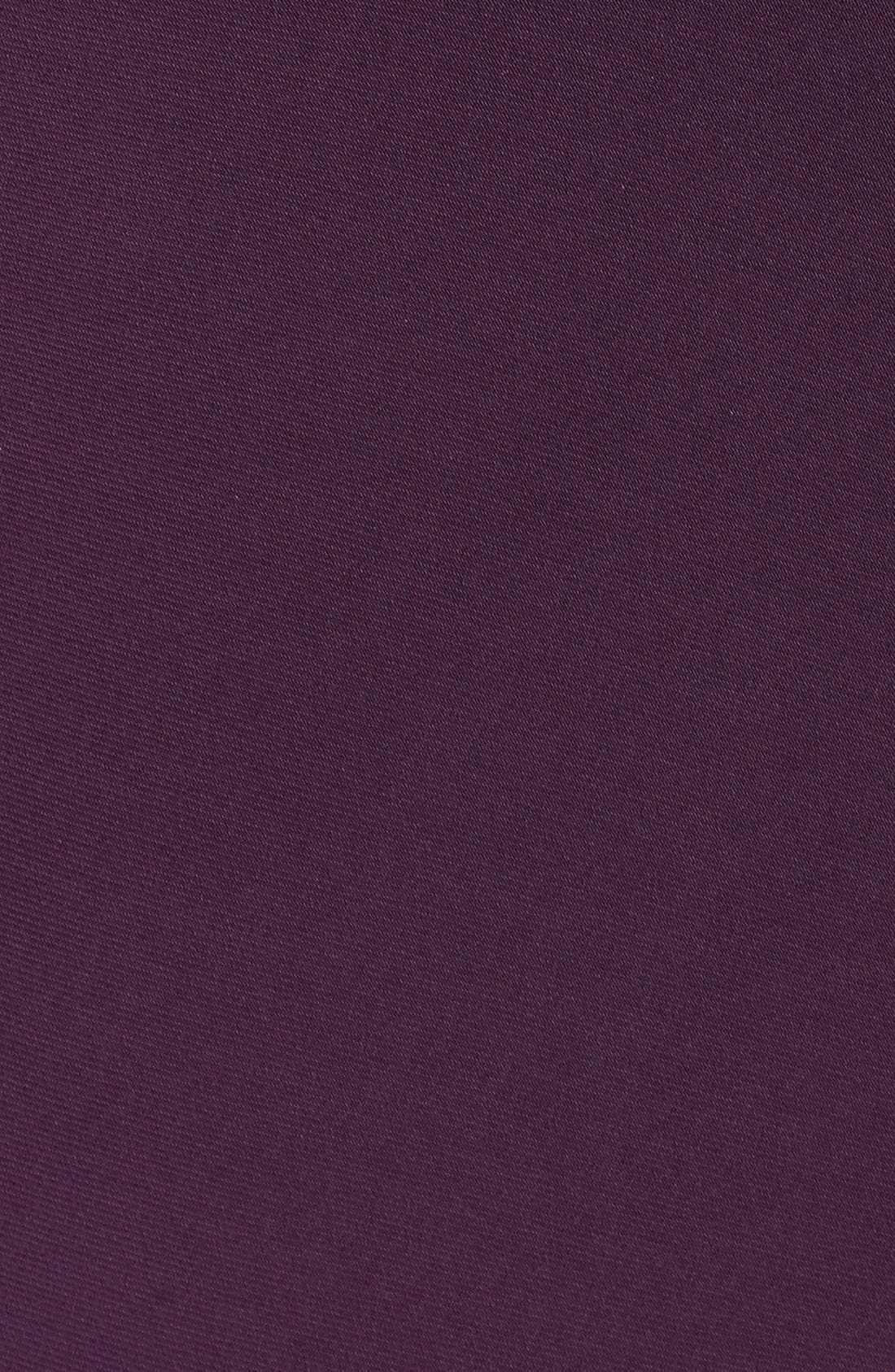 Embellished V-Neck Side Drape Jersey Gown,                             Alternate thumbnail 6, color,                             540