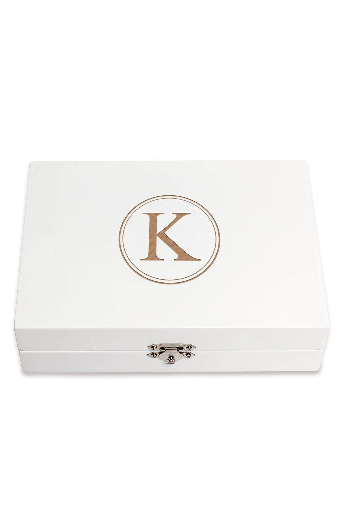 Monogram Wooden Jewelry Box,                             Main thumbnail 40, color,