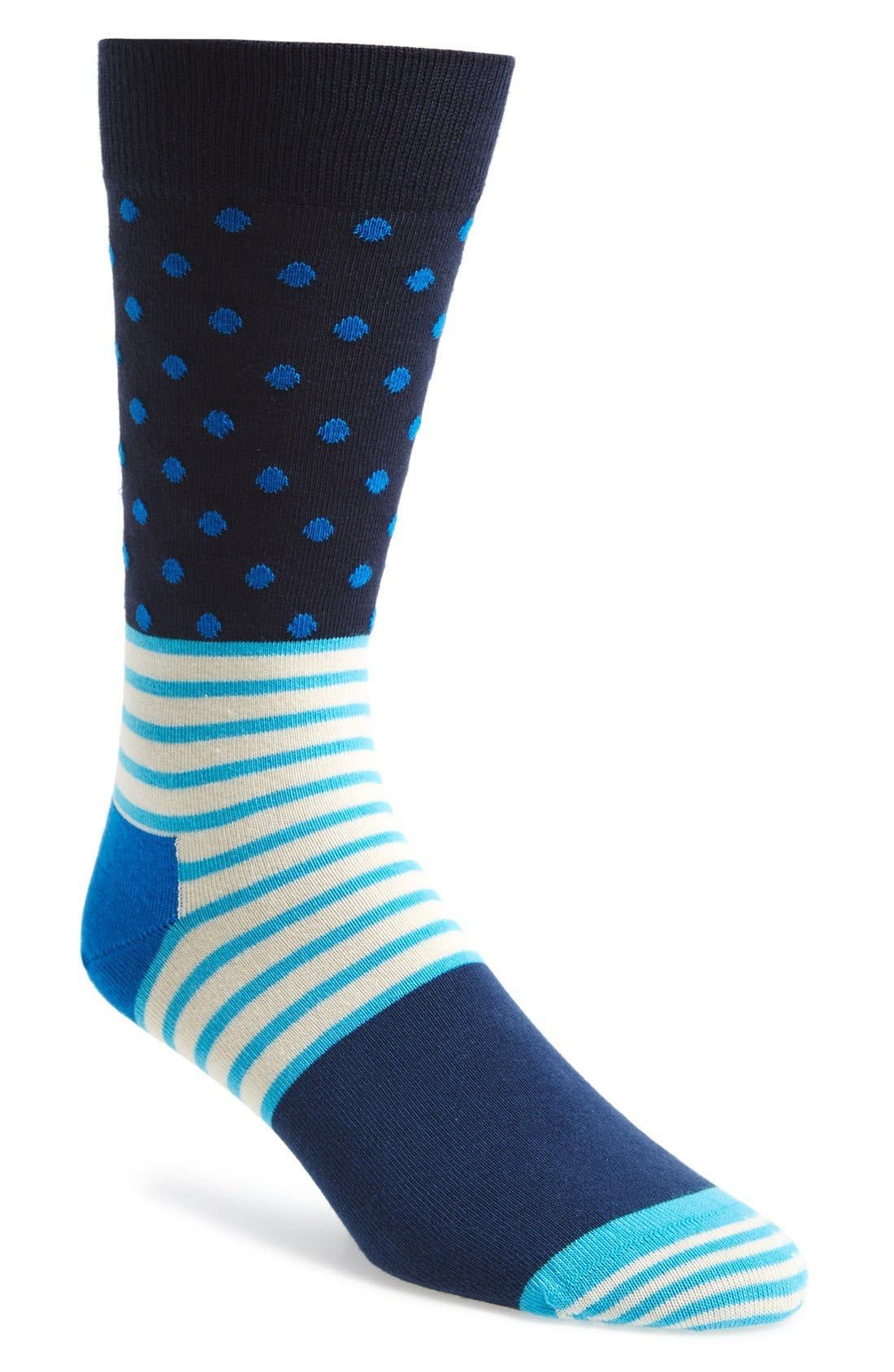 'Stripes & Dots' Socks,                         Main,                         color,