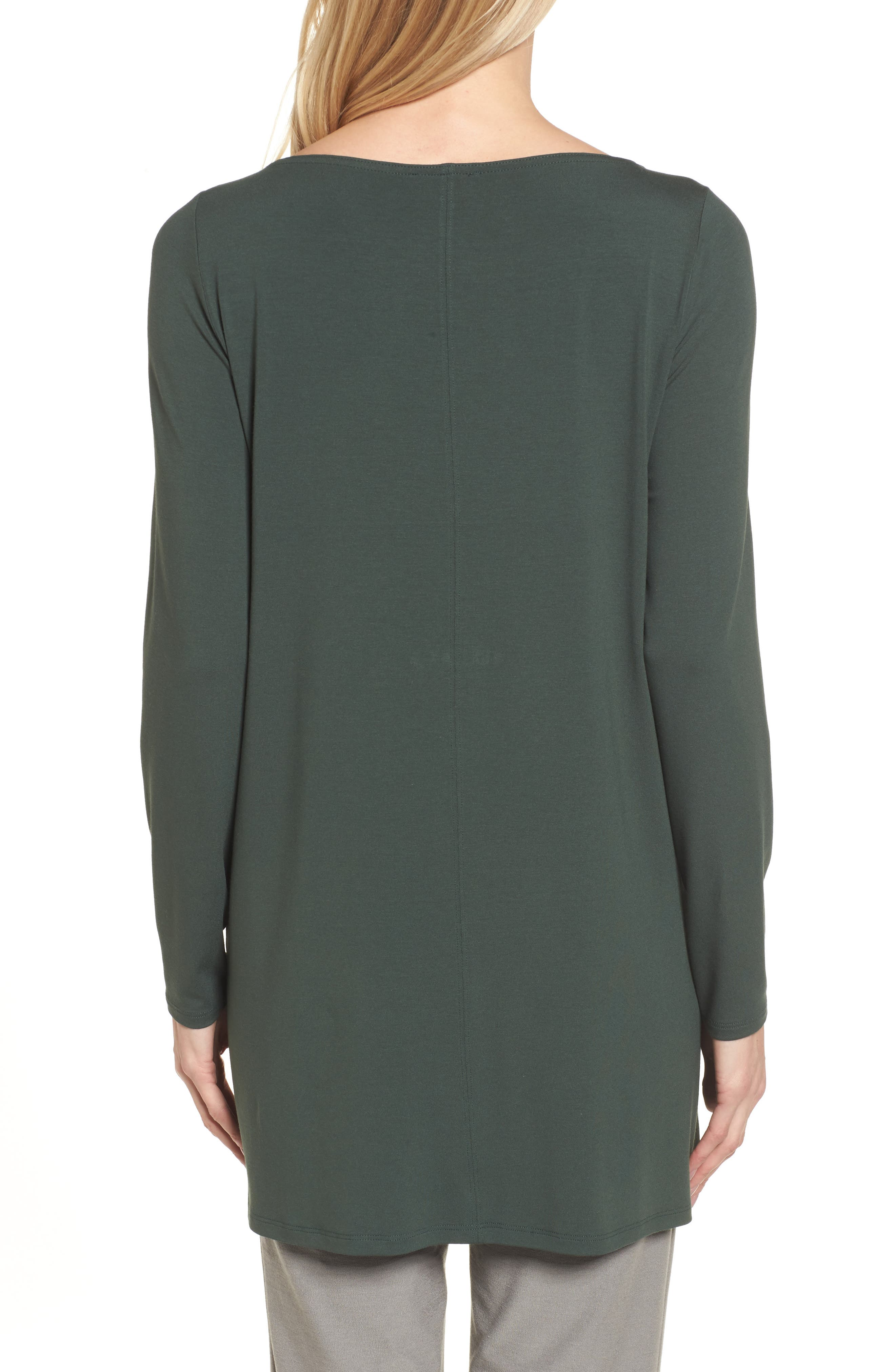 Jersey Bateau Neck Tunic,                             Alternate thumbnail 2, color,                             351