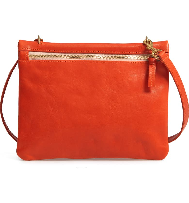 Clare V Jumelle Leather Crossbody Bag - Red In Poppy Rustic ... 25e7fe2801f4