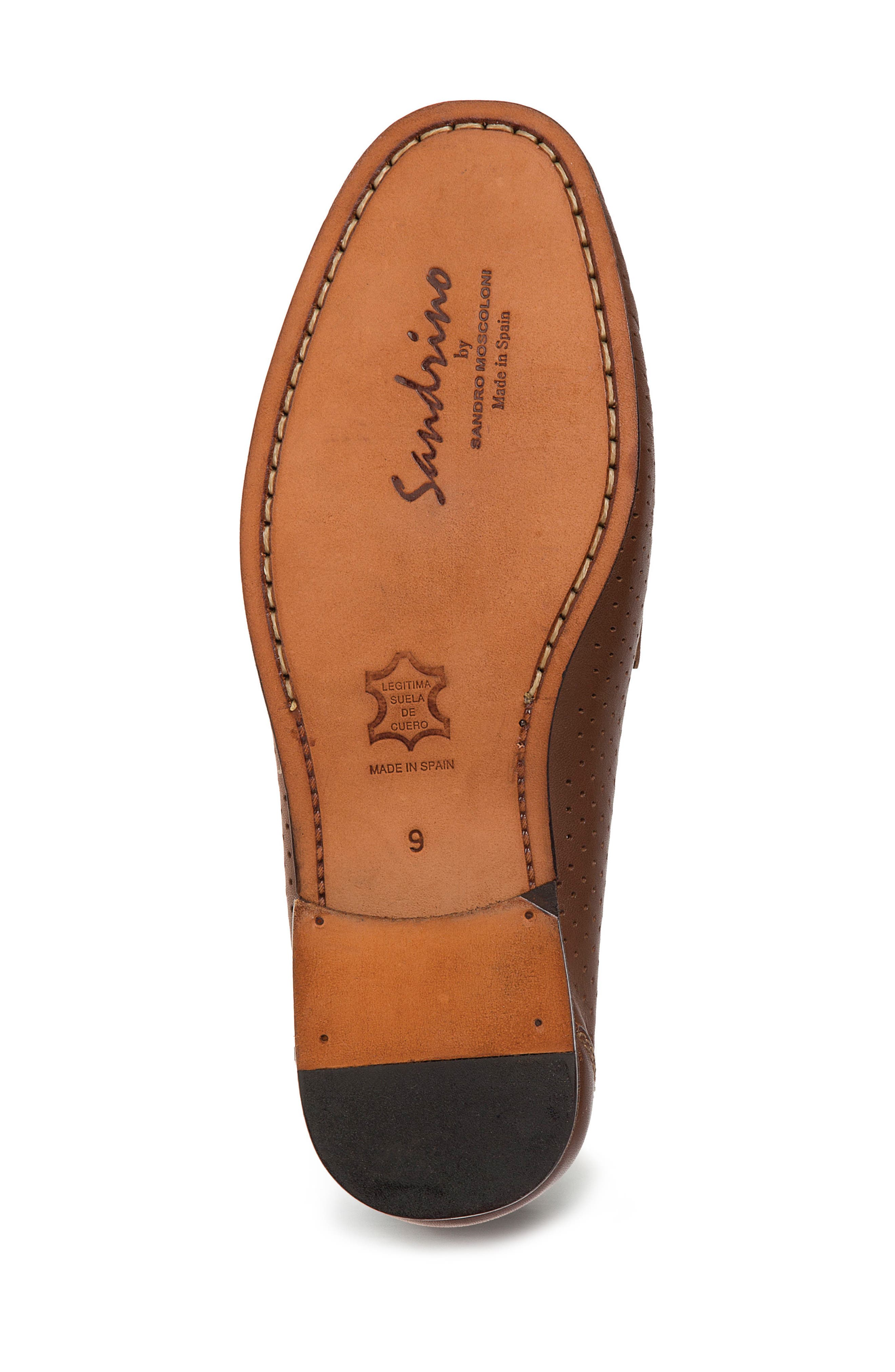 Alcazar Perforated Loafer,                             Alternate thumbnail 4, color,