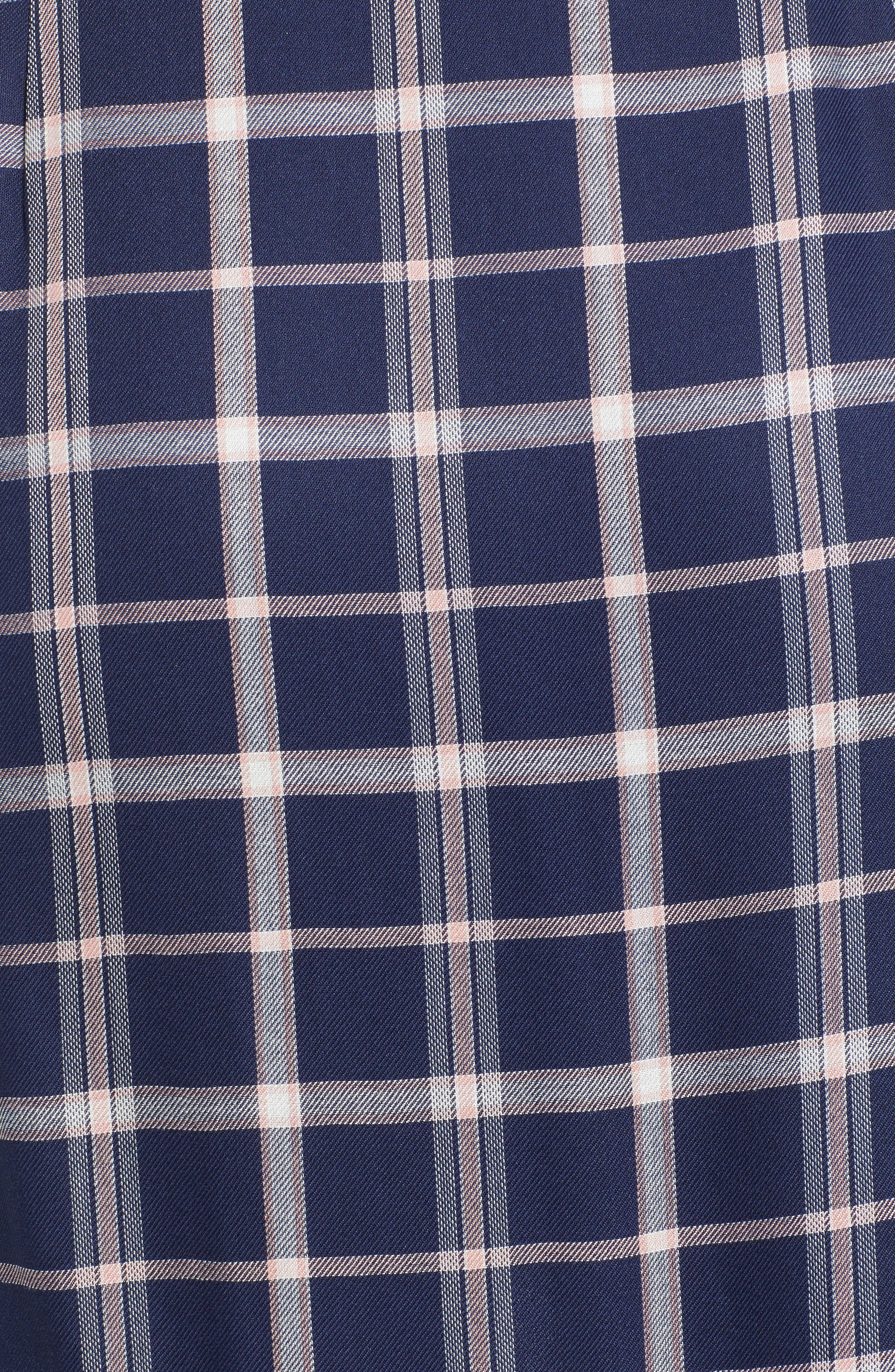 SOMEDAYS LOVIN,                             Plaid Ruffle Wrap Skirt,                             Alternate thumbnail 5, color,                             NAVY