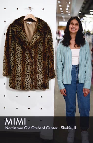 Mika Leopard Faux Fur Jacket, sales video thumbnail