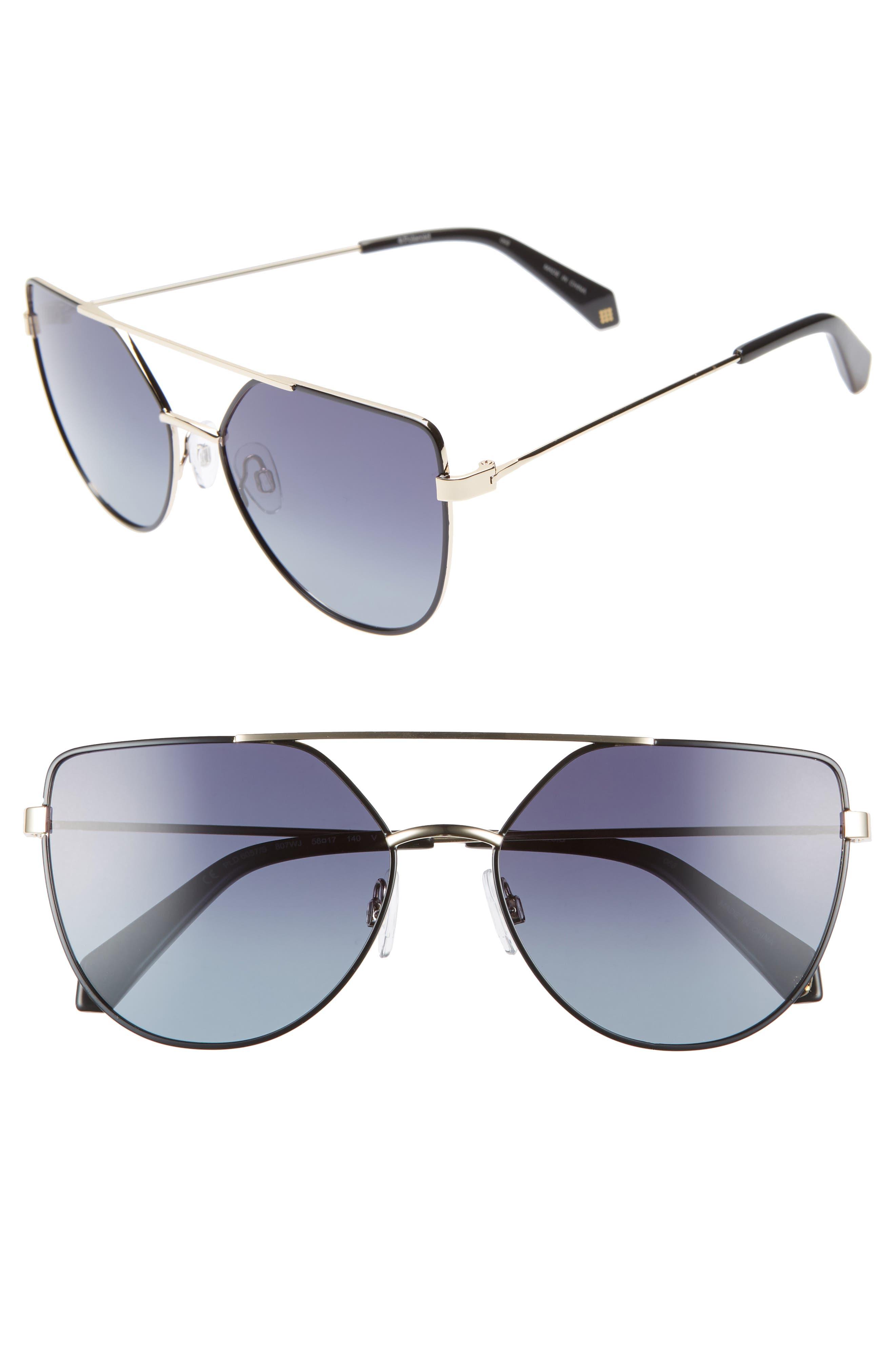 POLAROID 58Mm Polarized Sunglasses - Black