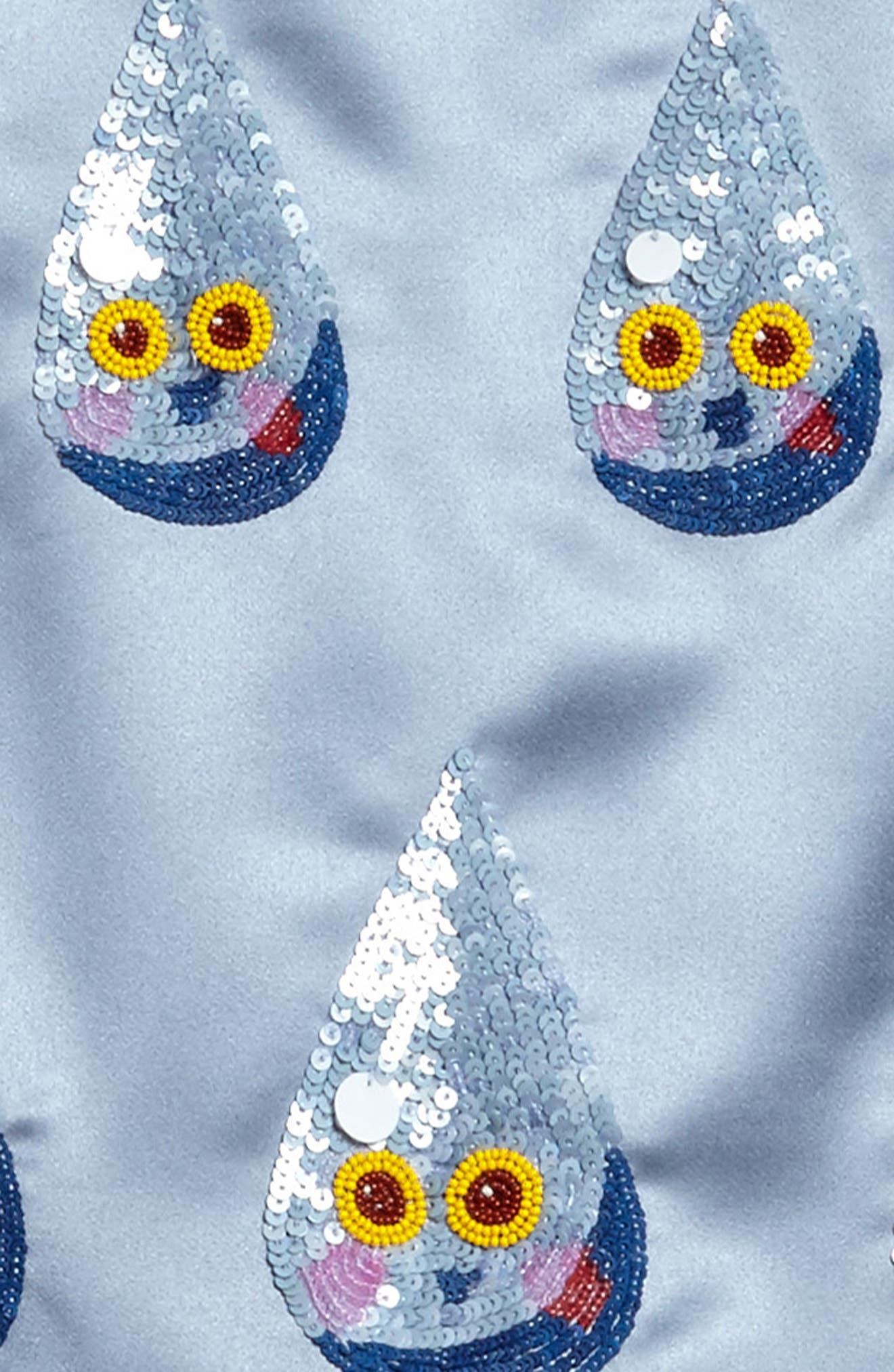 Sequin Raindrop Shift Dress,                             Alternate thumbnail 3, color,                             400