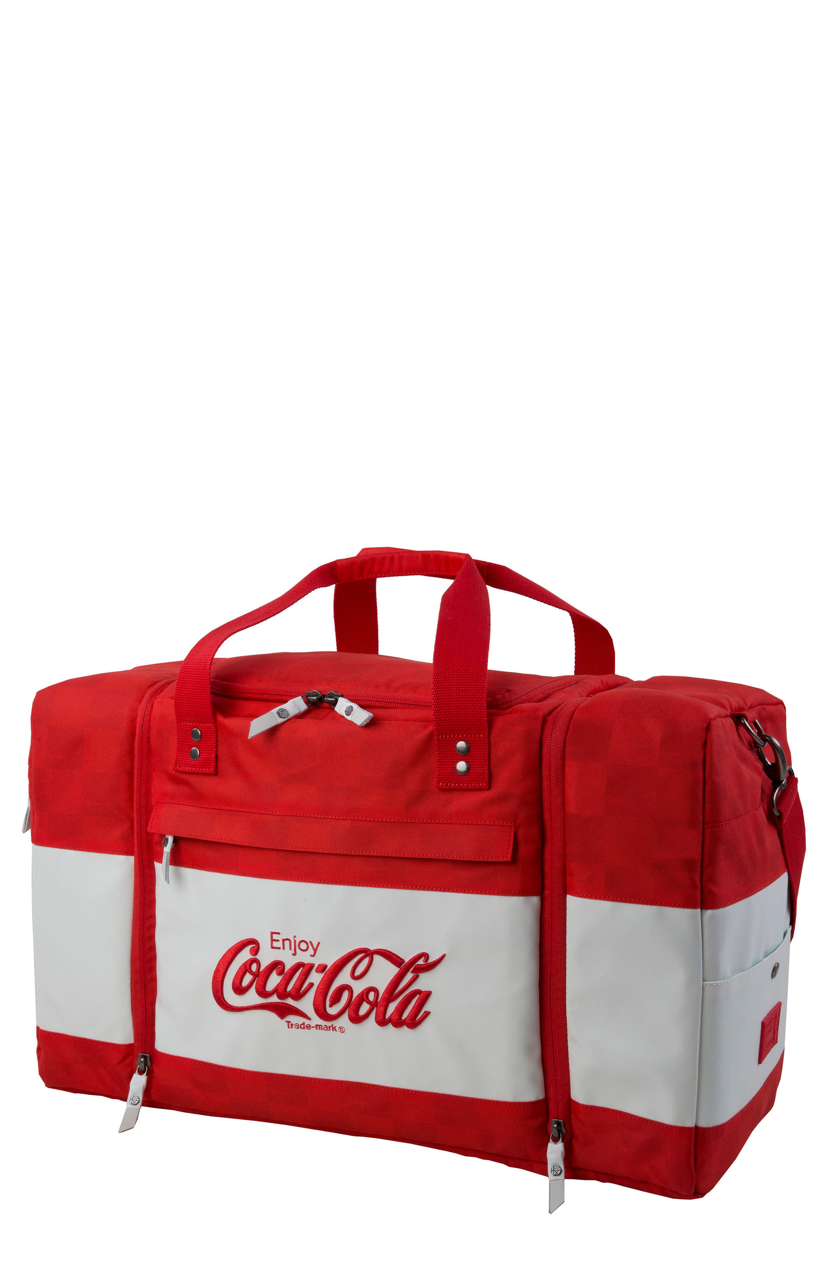Coca Cola Sneaker Duffel Bag,                         Main,                         color, 600