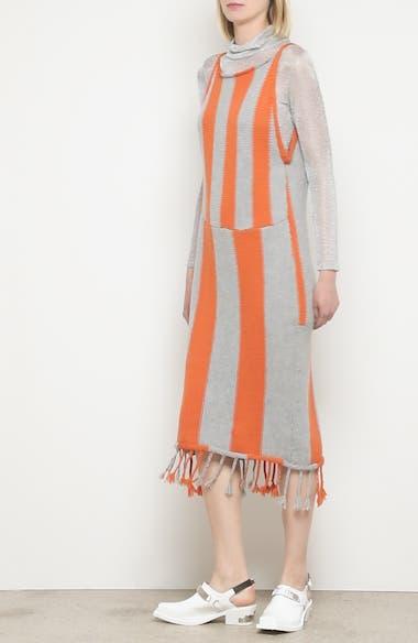 Stripe Tassel Hem Sweater Dress, video thumbnail