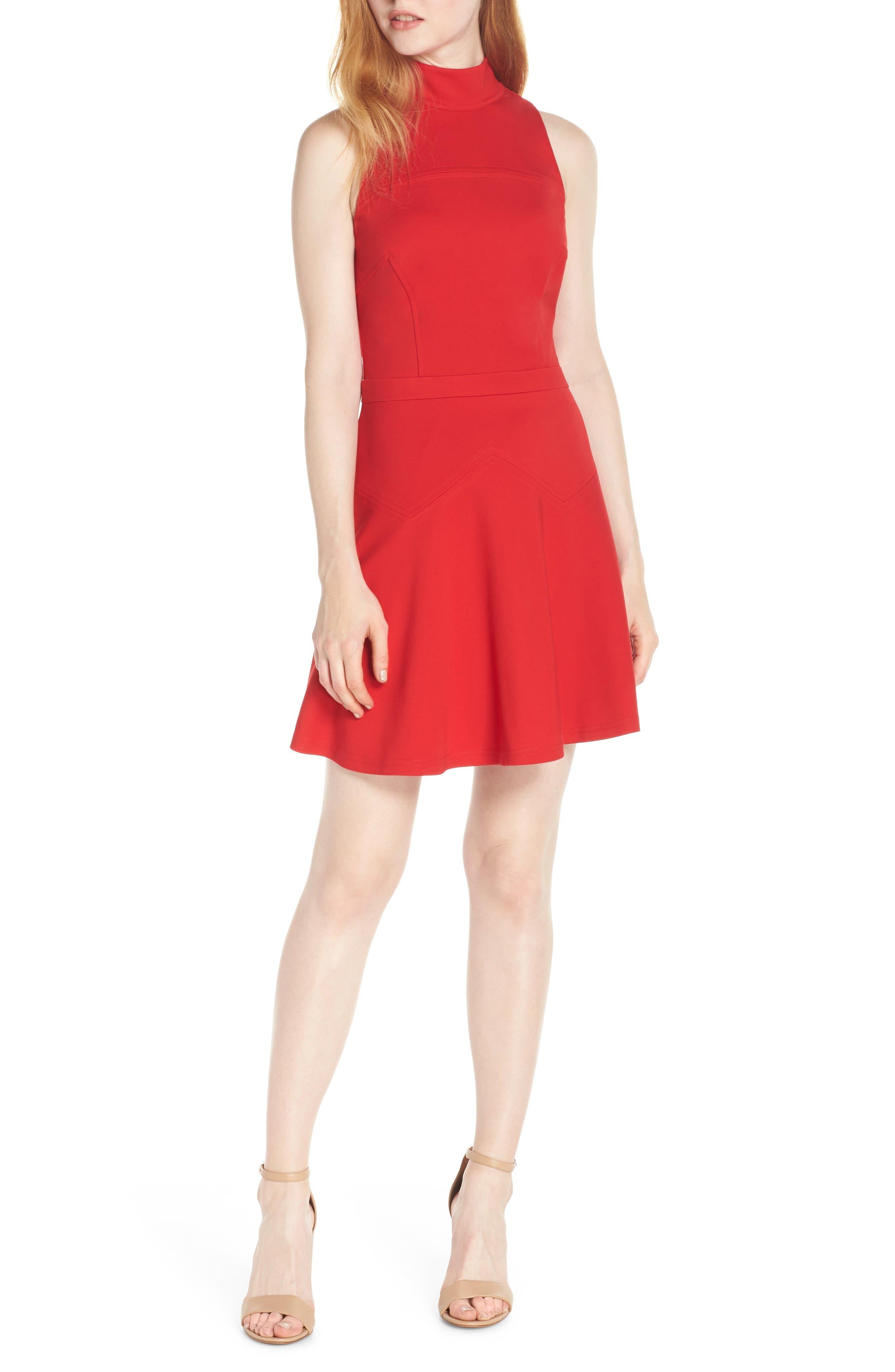 ALI & JAY Melt My Heart Minidress in Scarlet