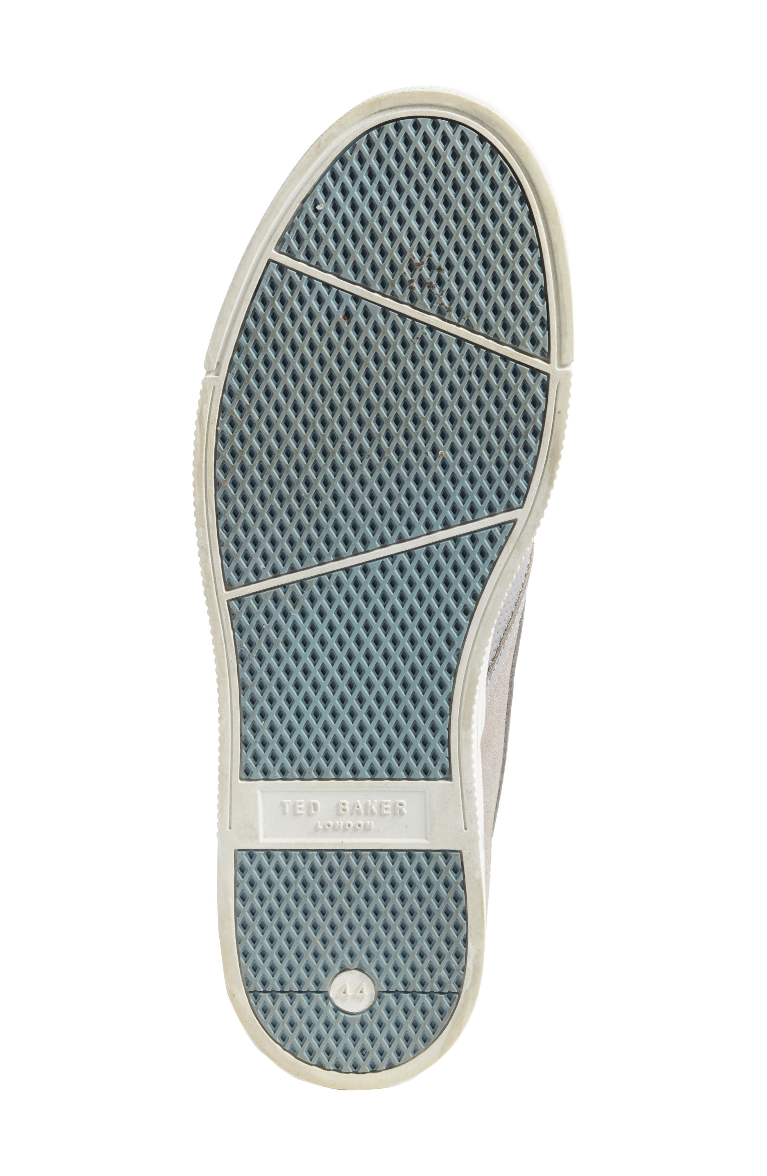Patroy Perforated Slip-On Sneaker,                             Alternate thumbnail 6, color,                             LIGHT GREY LEATHER