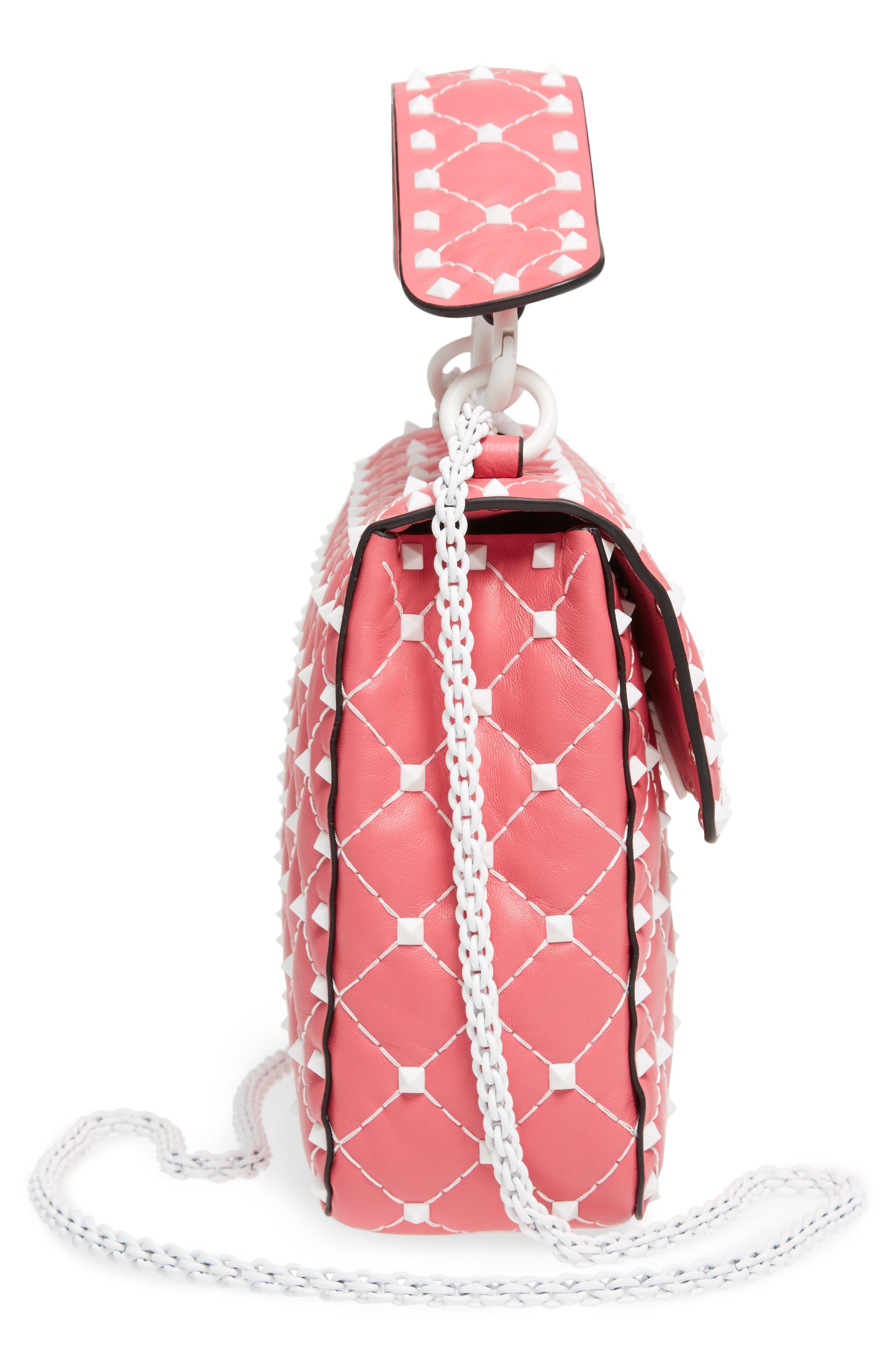 Medium Rockstud Matelassé Leather Shoulder Bag,                             Alternate thumbnail 15, color,