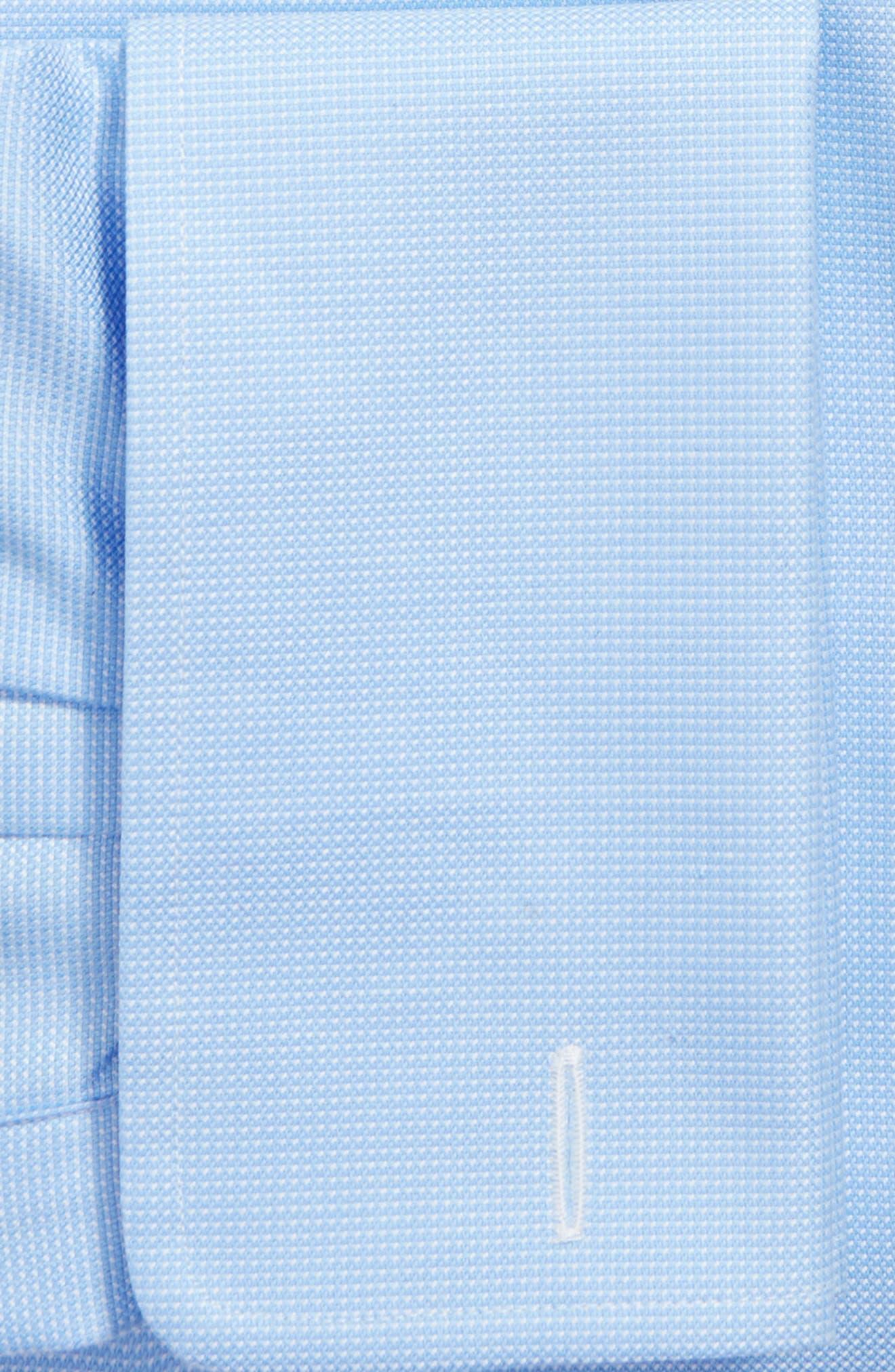 Trim Fit Texture French Cuff Dress Shirt,                             Alternate thumbnail 2, color,                             BLUE