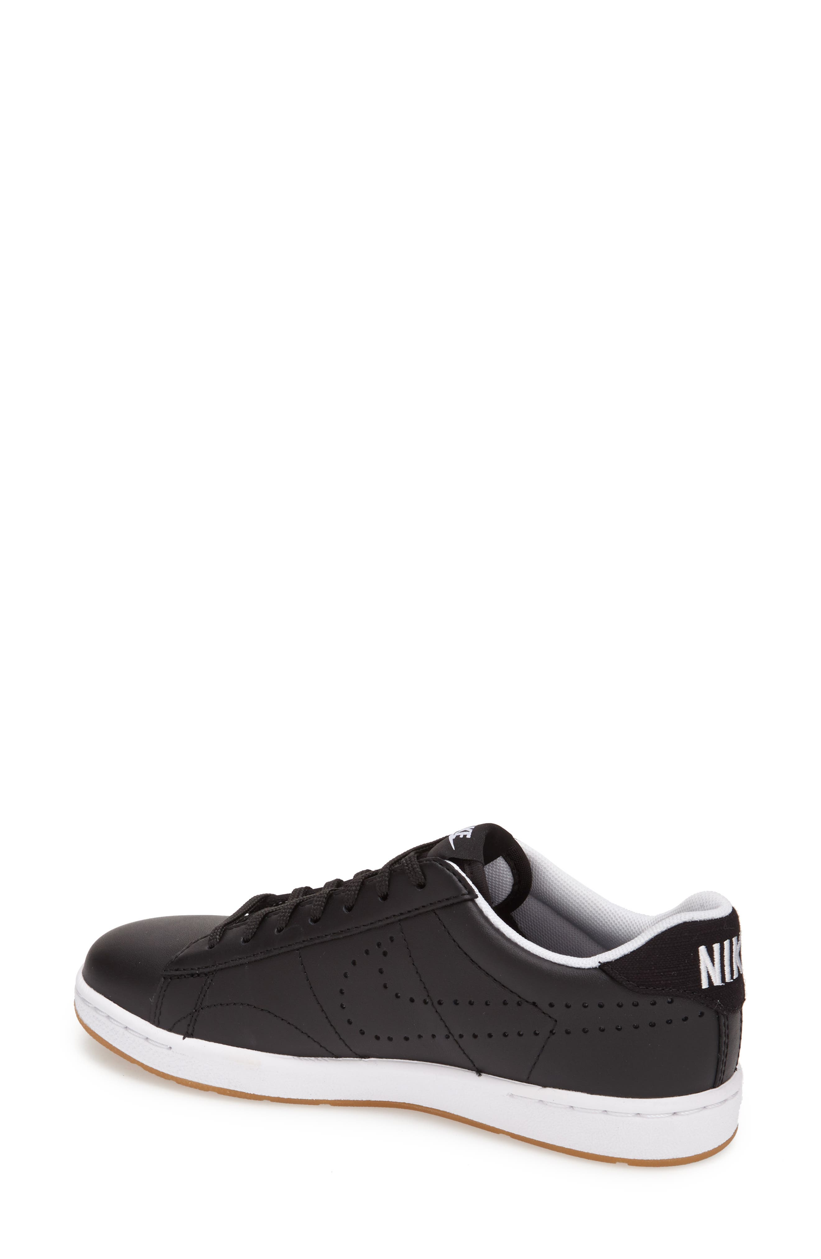 'Classic Ultra' Leather Sneaker,                             Alternate thumbnail 4, color,                             001