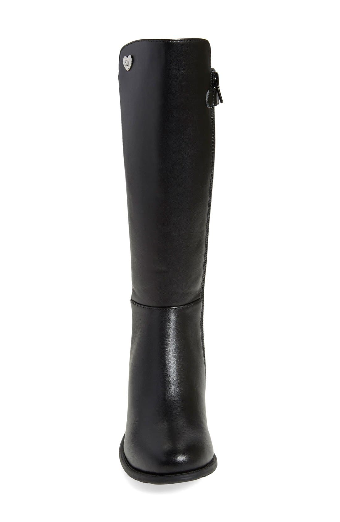 '50/50' Stretch Back Riding Boot,                             Alternate thumbnail 4, color,                             001
