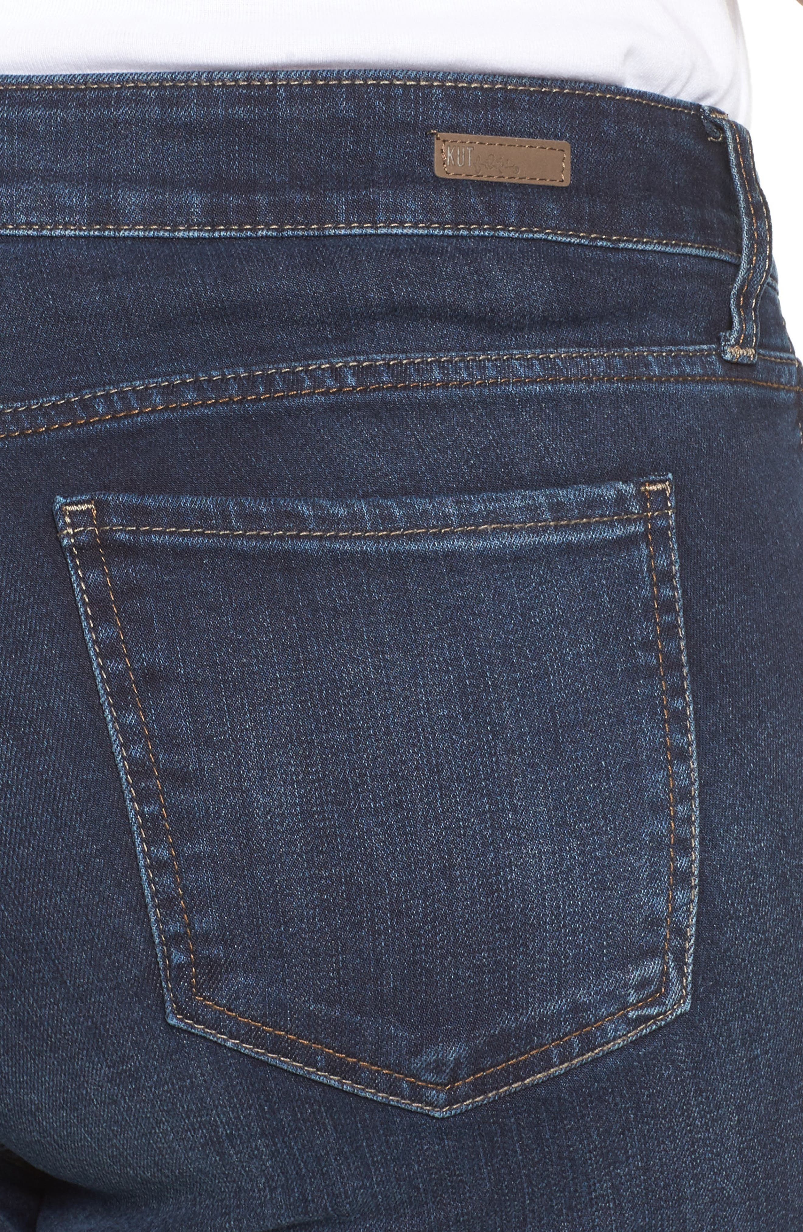 Natalie High Waist Bootcut Jeans,                             Alternate thumbnail 4, color,                             453
