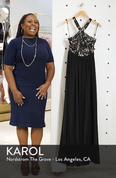 Sequin Lace & Chiffon Halter Gown, sales video thumbnail