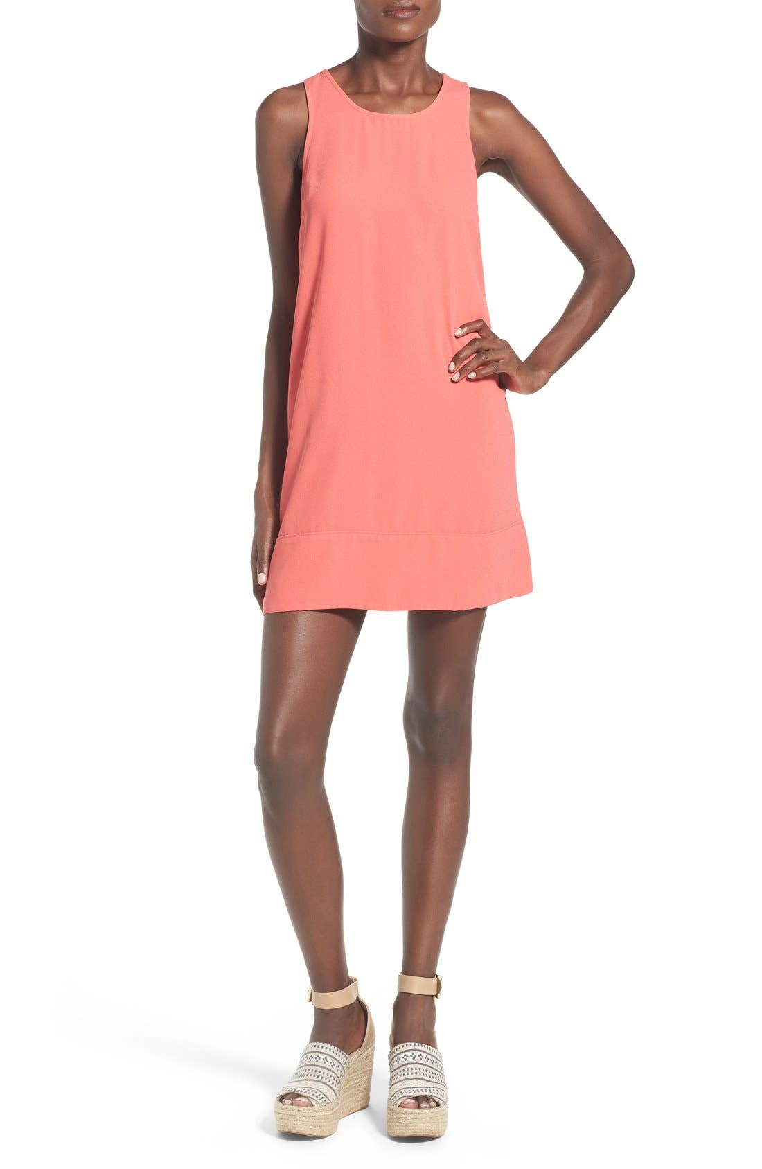 Racerback Shift Dress,                             Main thumbnail 42, color,