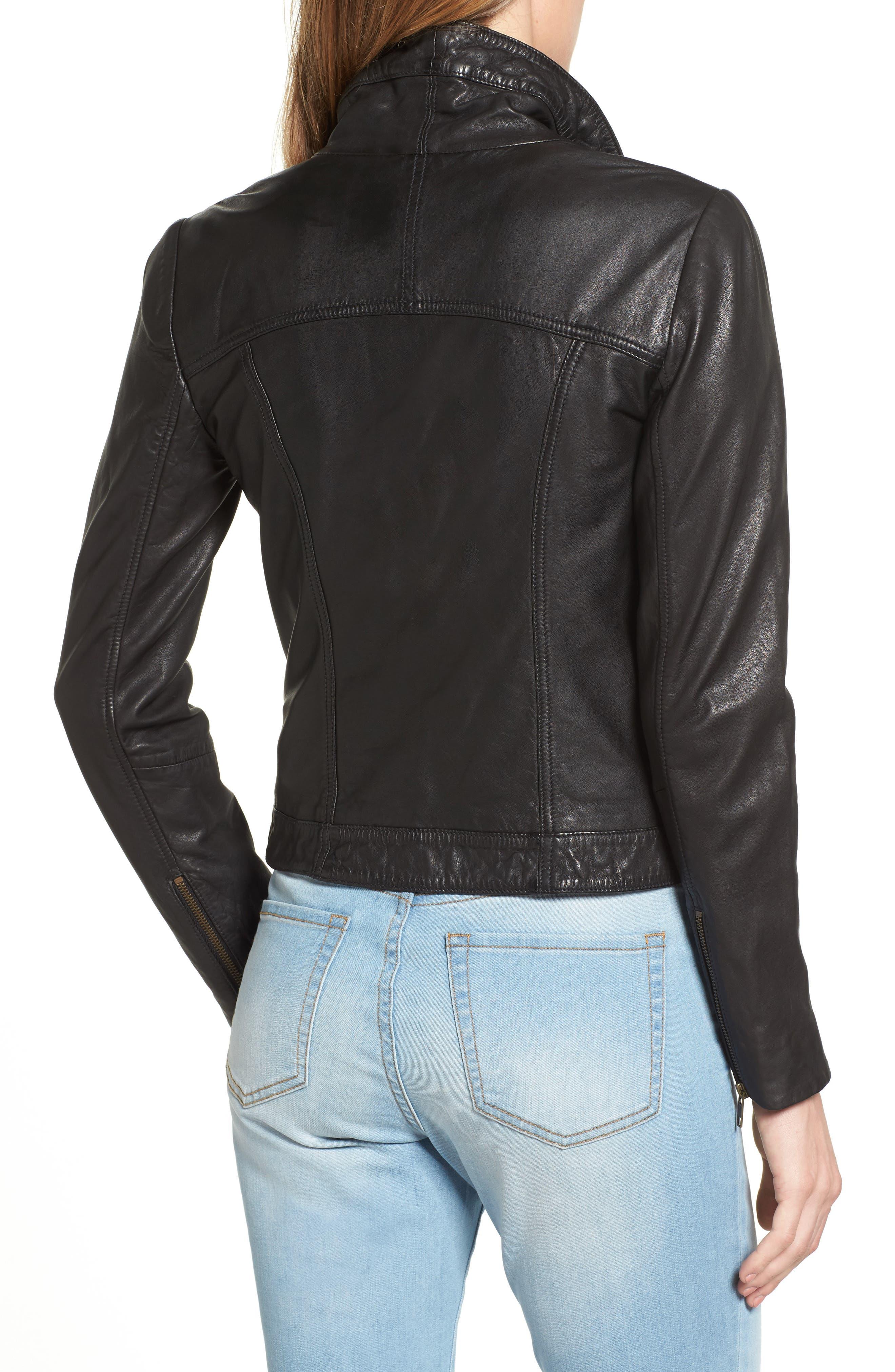 Leather Jacket,                             Alternate thumbnail 2, color,