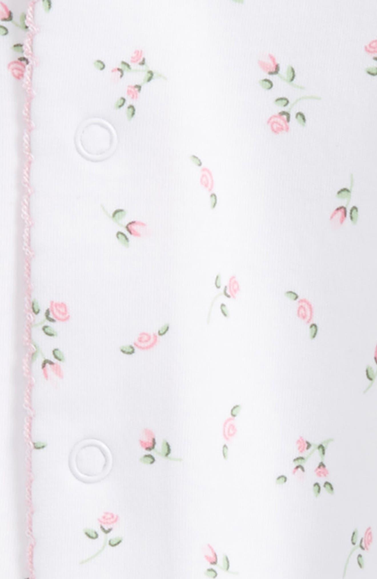 Garden Roses Pima Cotton Footie,                             Alternate thumbnail 2, color,                             GARDEN ROSES