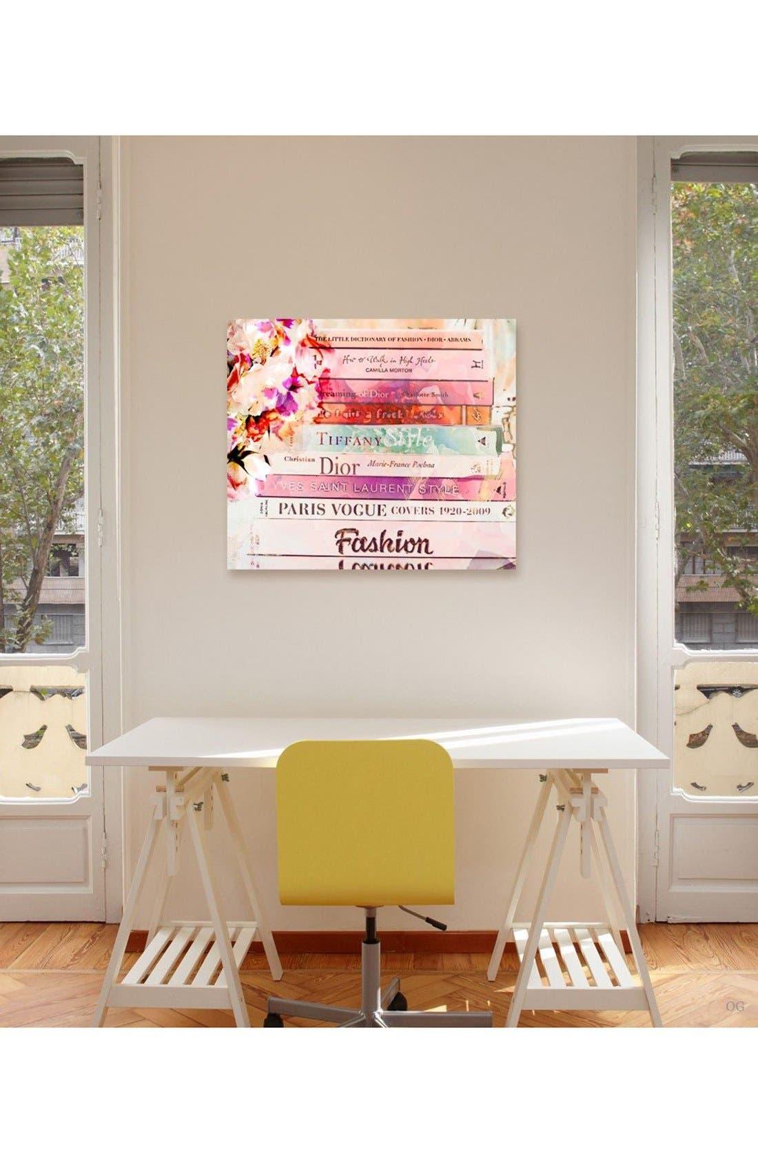 'Fashion Books' Canvas Print,                             Alternate thumbnail 2, color,
