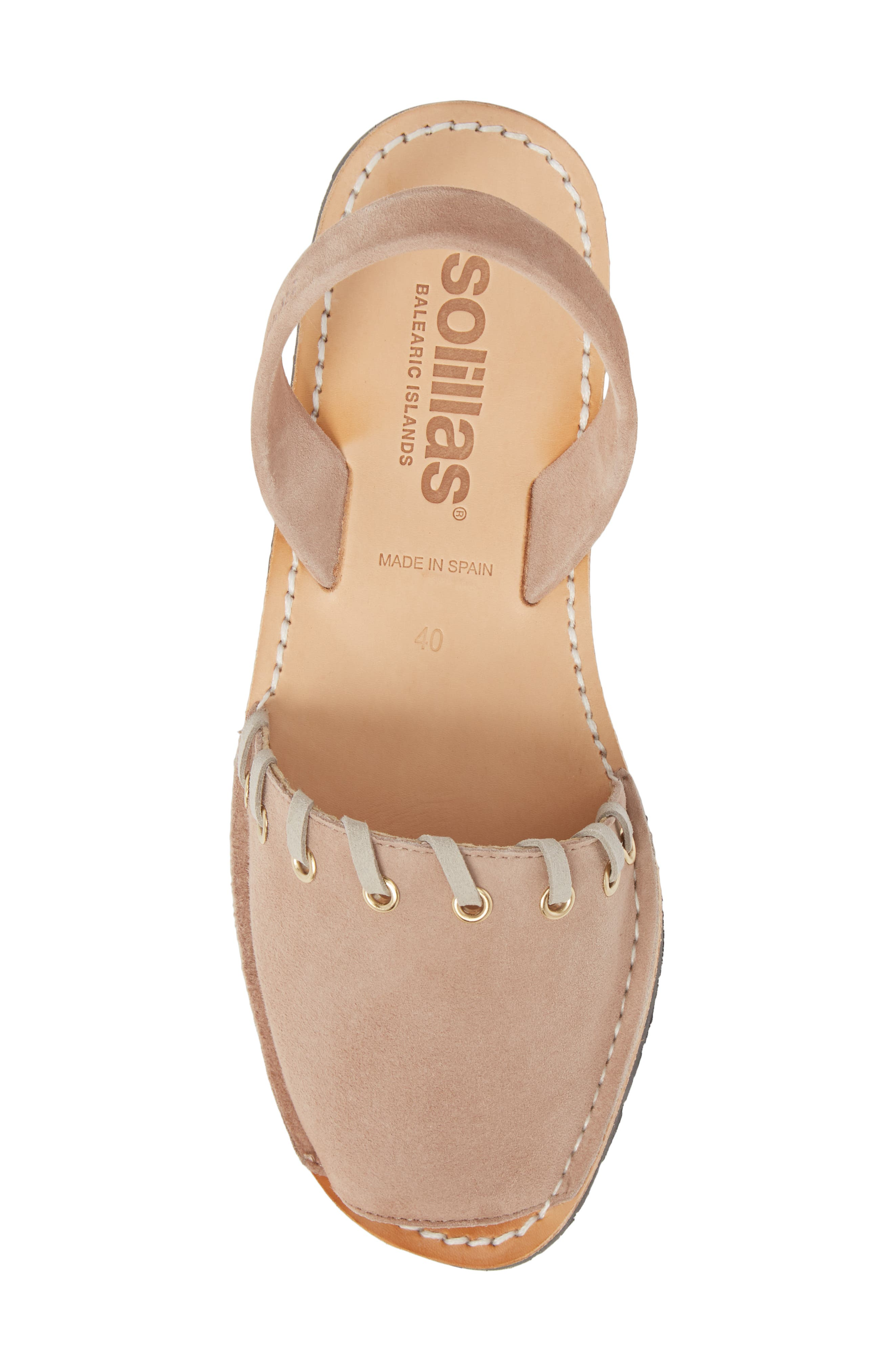 Whipstitched Flat Sandal,                             Alternate thumbnail 5, color,                             060