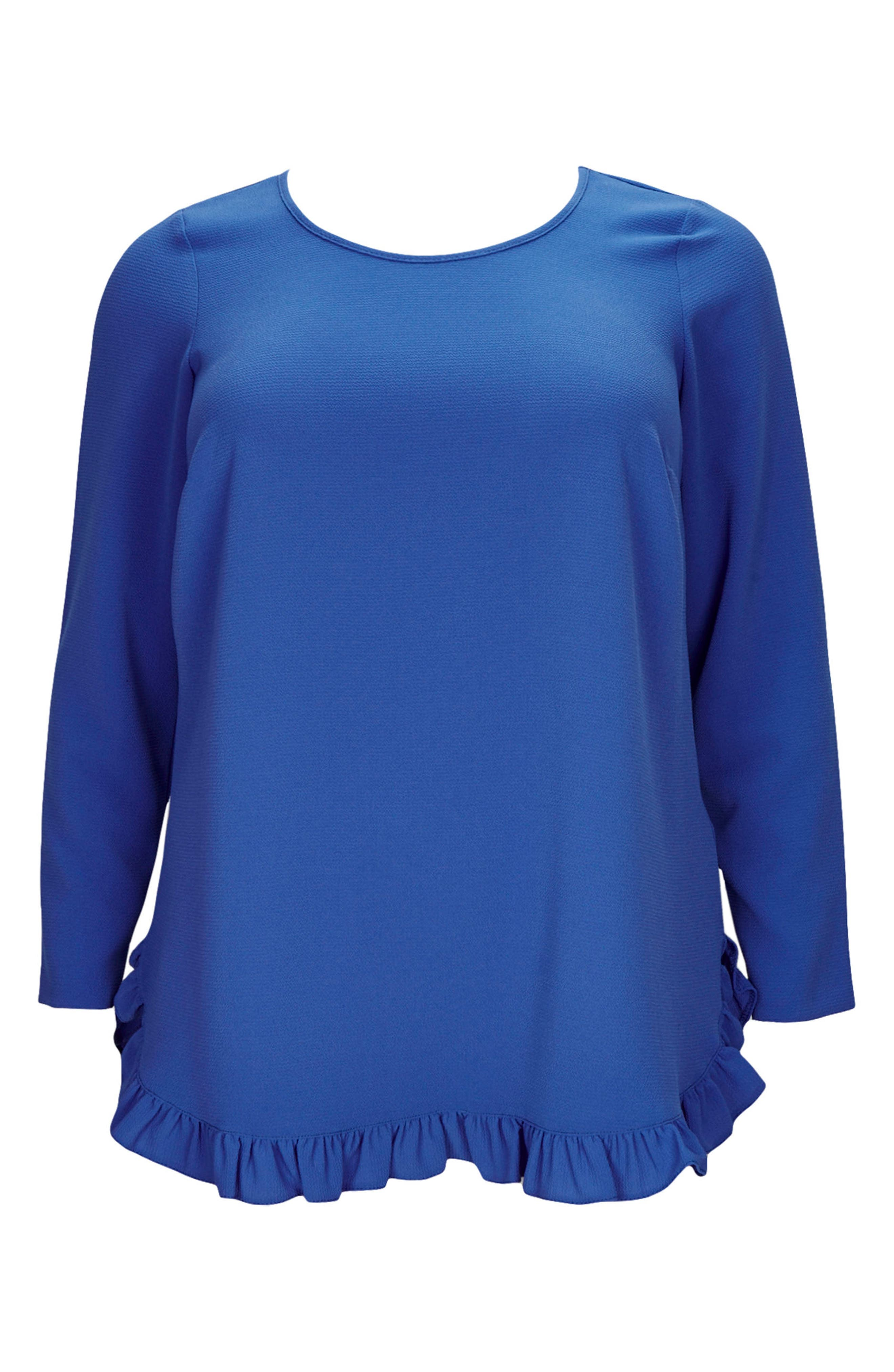 Ruffle Hem Top,                             Alternate thumbnail 3, color,                             400