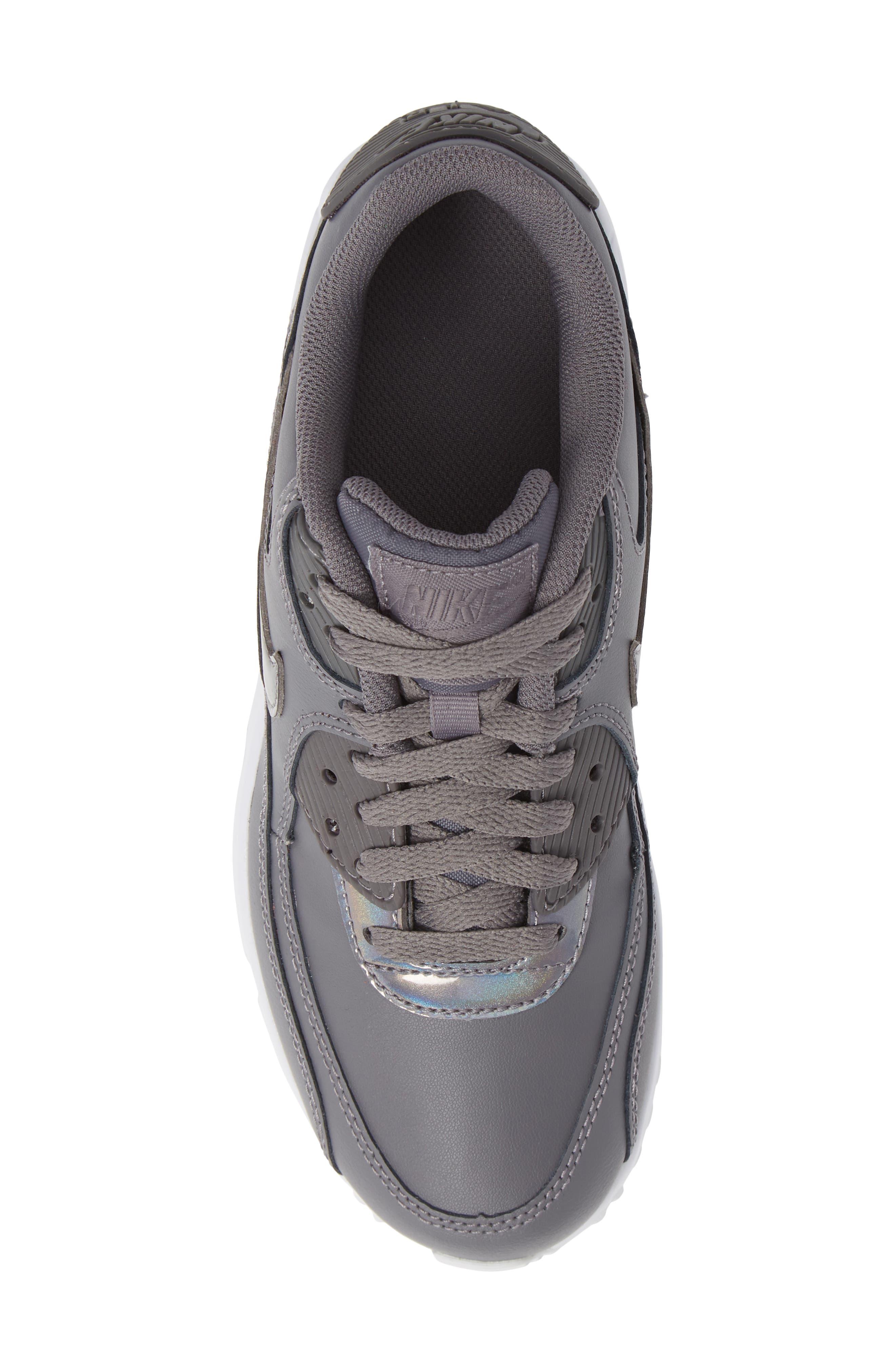 'Air Max 90' Sneaker,                             Alternate thumbnail 5, color,                             GUNSMOKE/ WHITE
