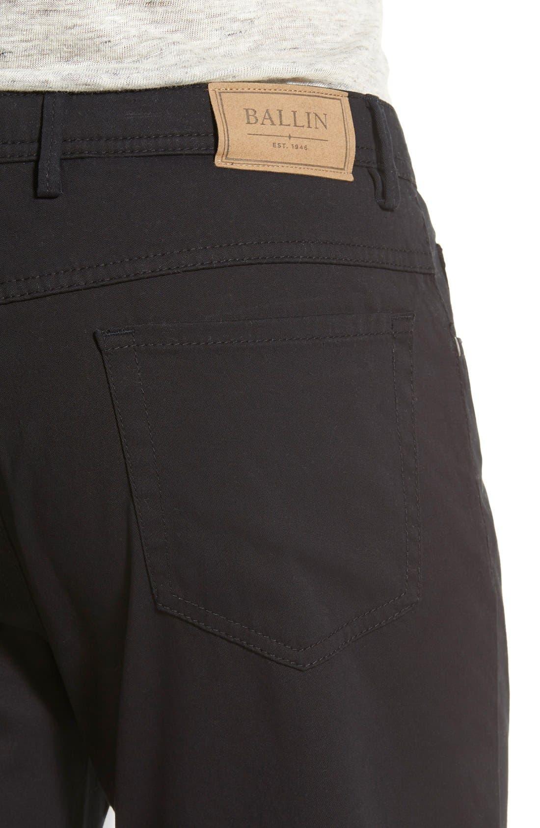 Crescent Pima Cotton Pants,                             Alternate thumbnail 5, color,                             001