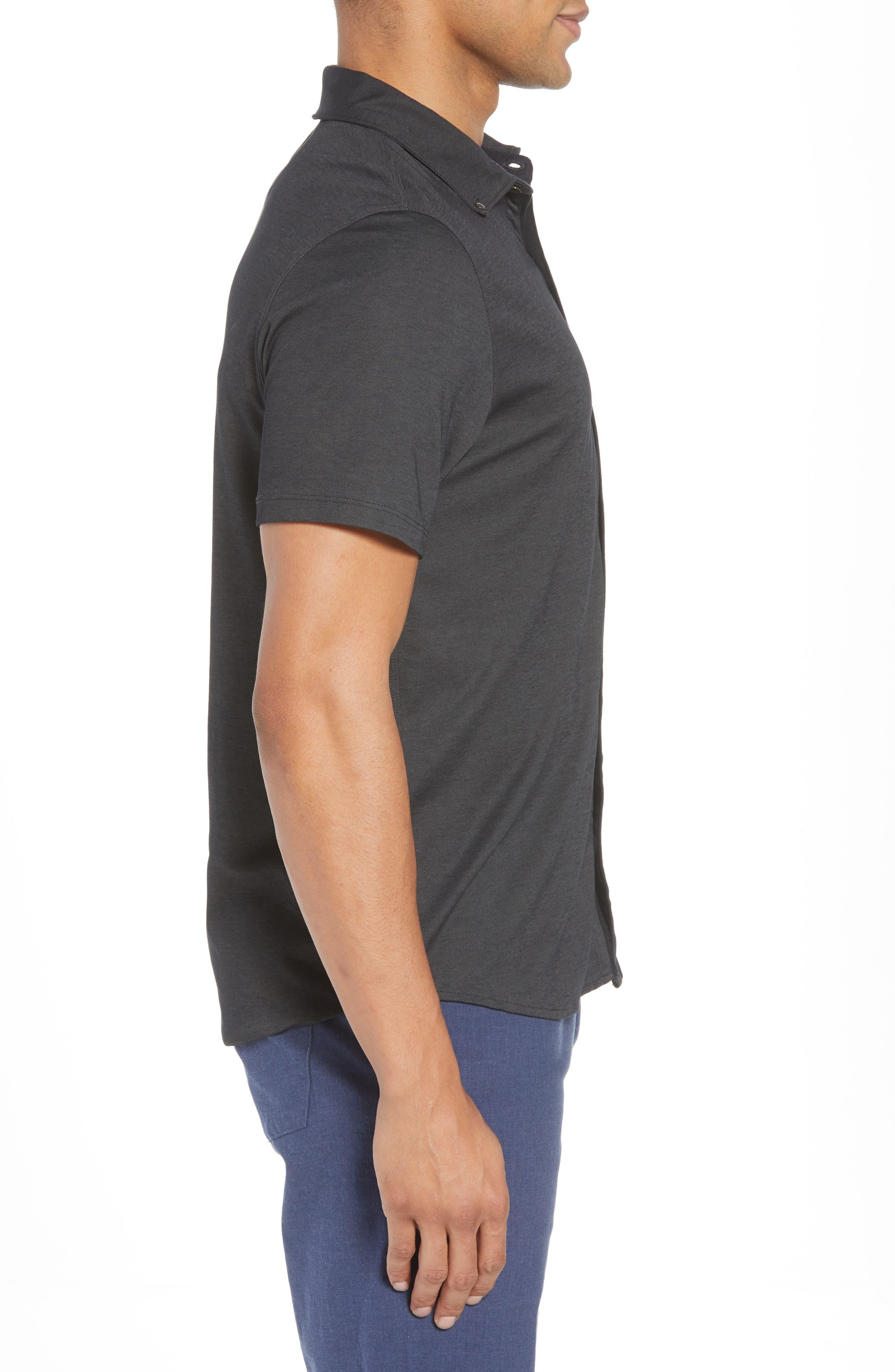 Caruth Piqué Sport Shirt,                             Alternate thumbnail 3, color,                             021