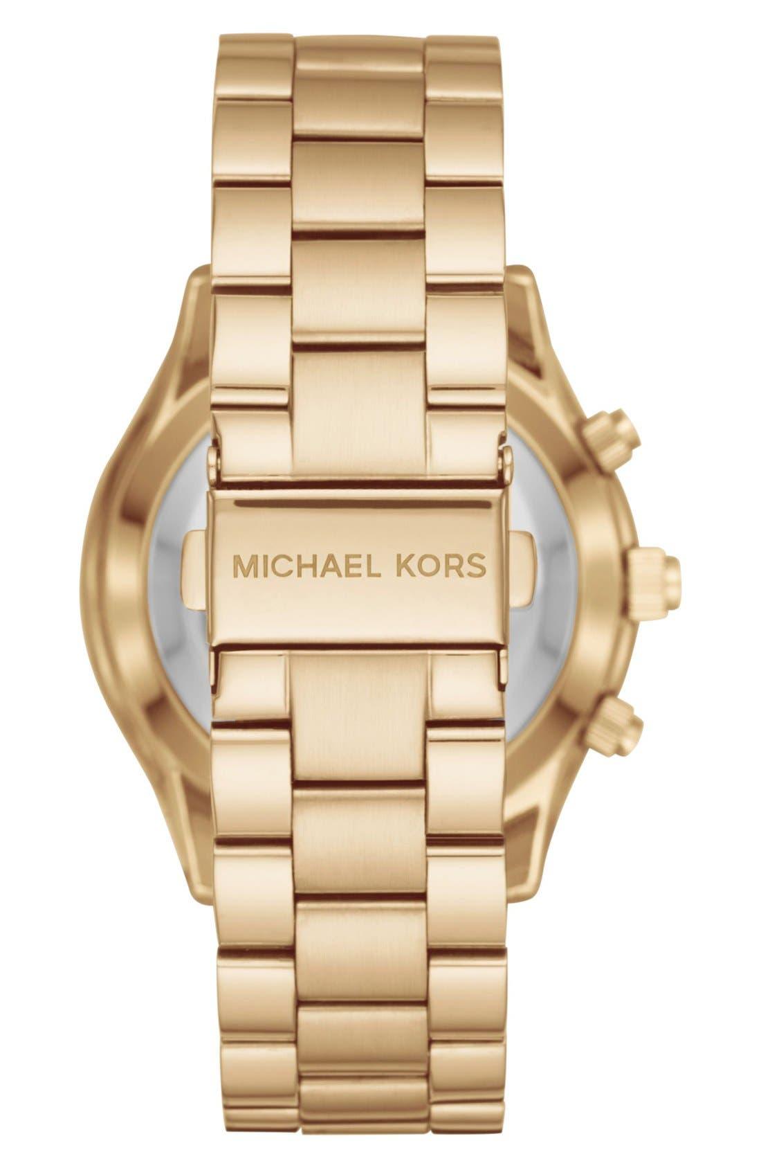 MICHAEL Michael Kors Slim Runway Smart Watch, 42mm,                             Alternate thumbnail 6, color,                             GOLD