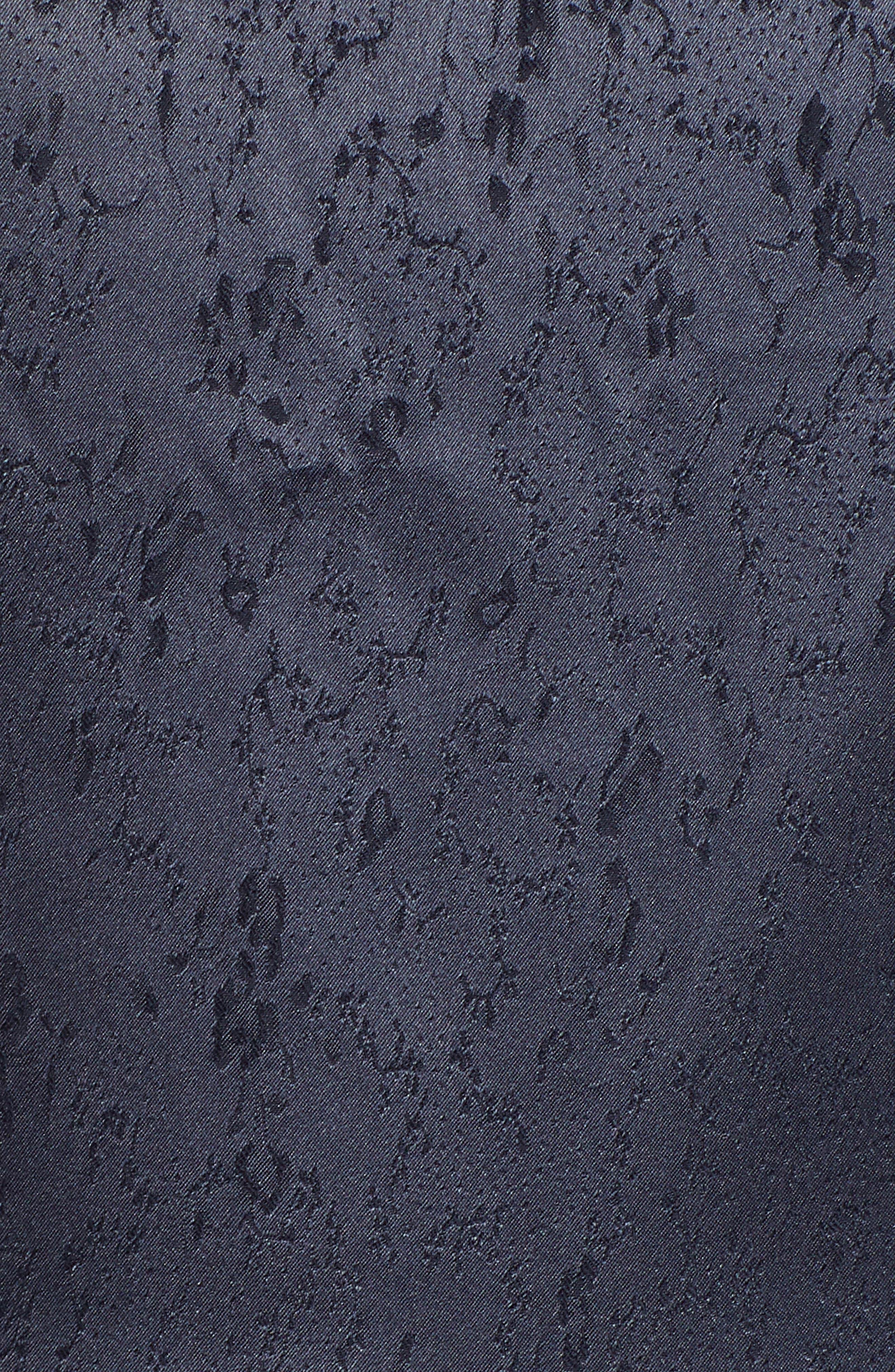 Ruffle Hem Minidress,                             Alternate thumbnail 6, color,                             NAVY NIGHT