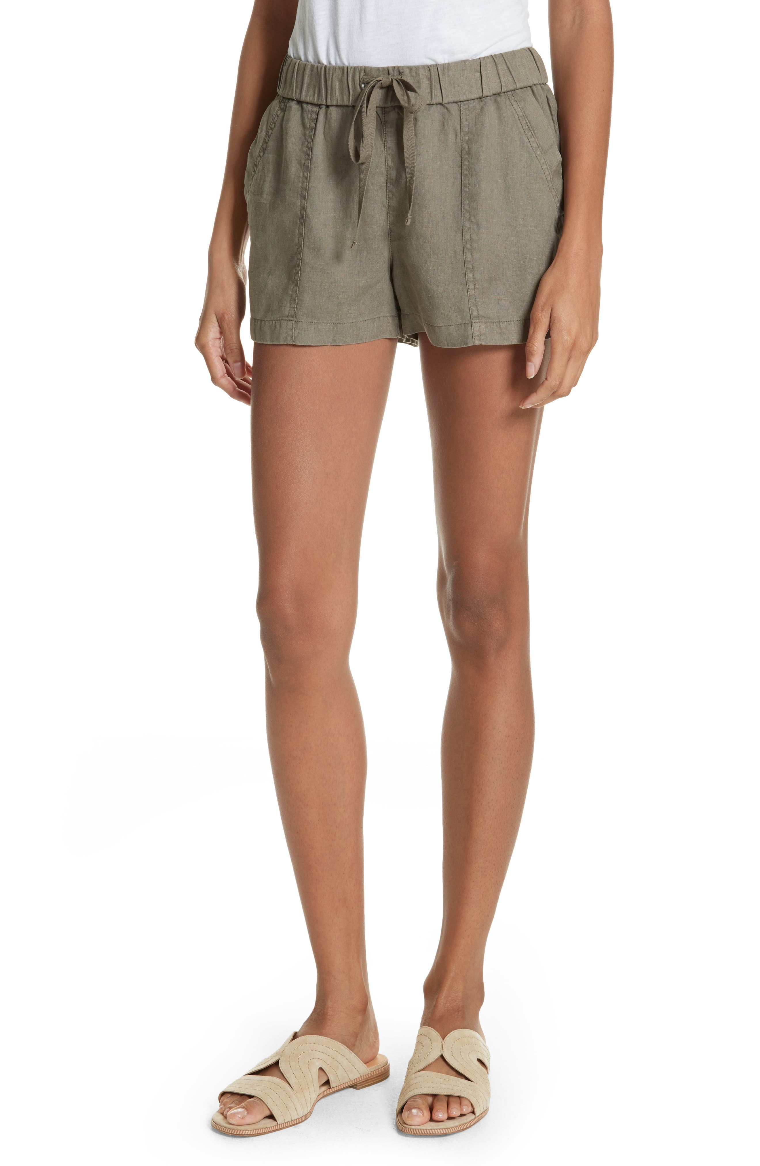 Fosette Linen Drawstring Shorts,                         Main,                         color,