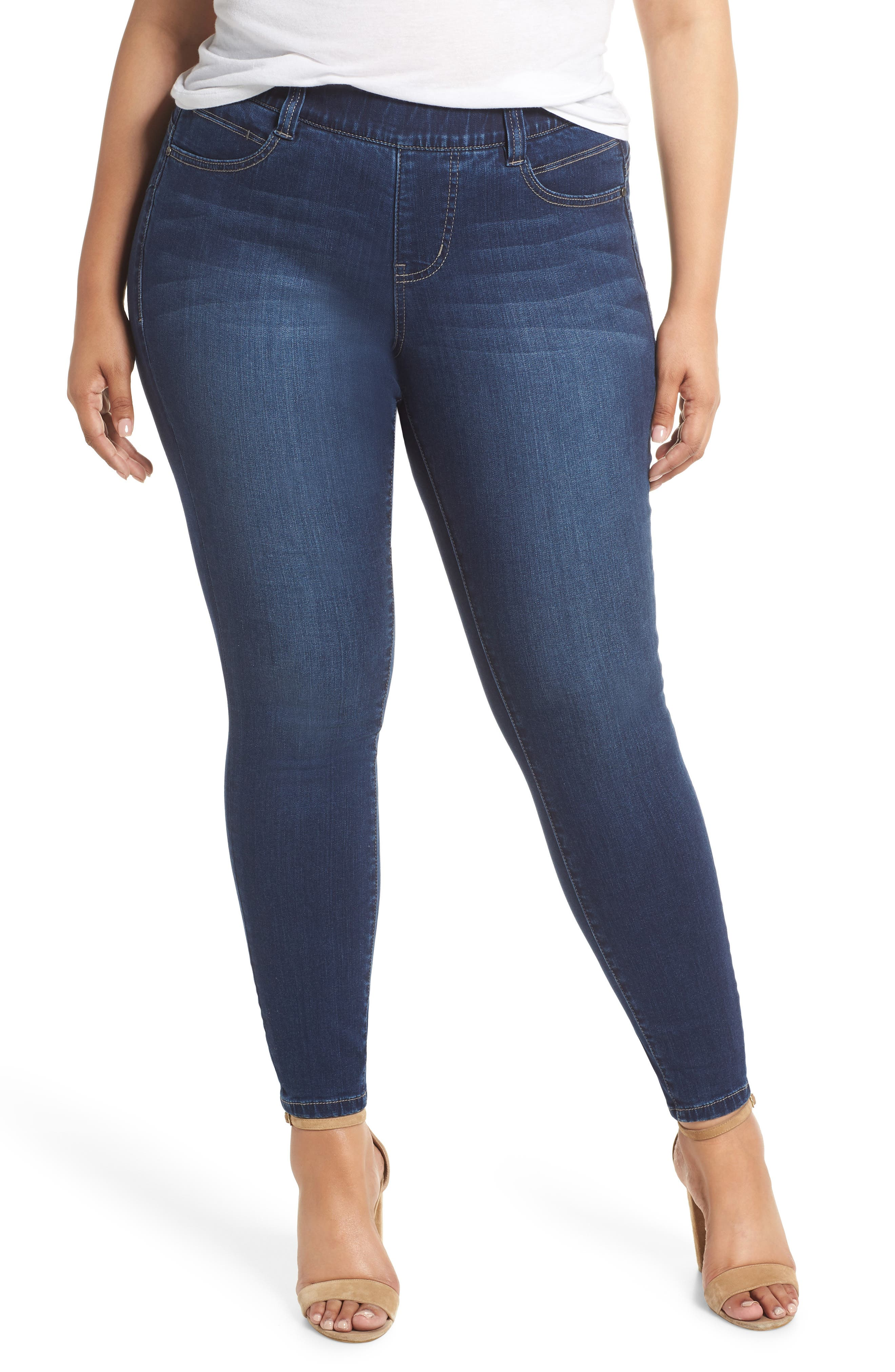 JAG JEANS Bryn Pull-On Jeans in Med Indigo