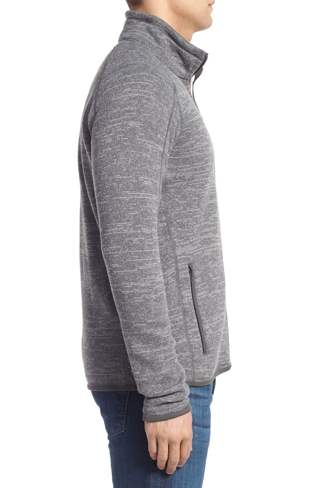 Better Sweater Zip Front Jacket,                             Alternate thumbnail 6, color,                             NICKEL/ FORGE GREY