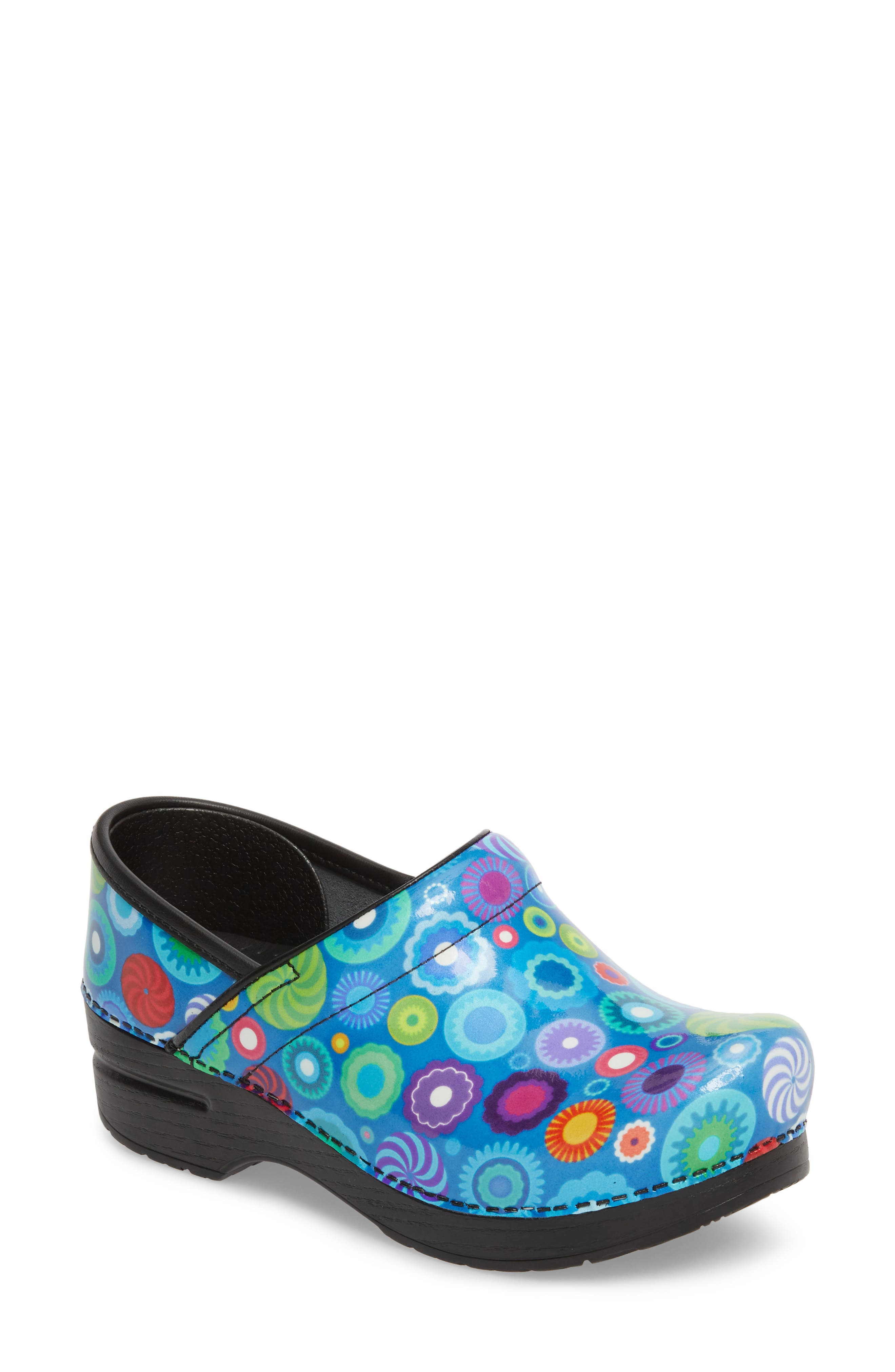 Professional Clog,                             Main thumbnail 1, color,                             CANDY PATENT LEATHER