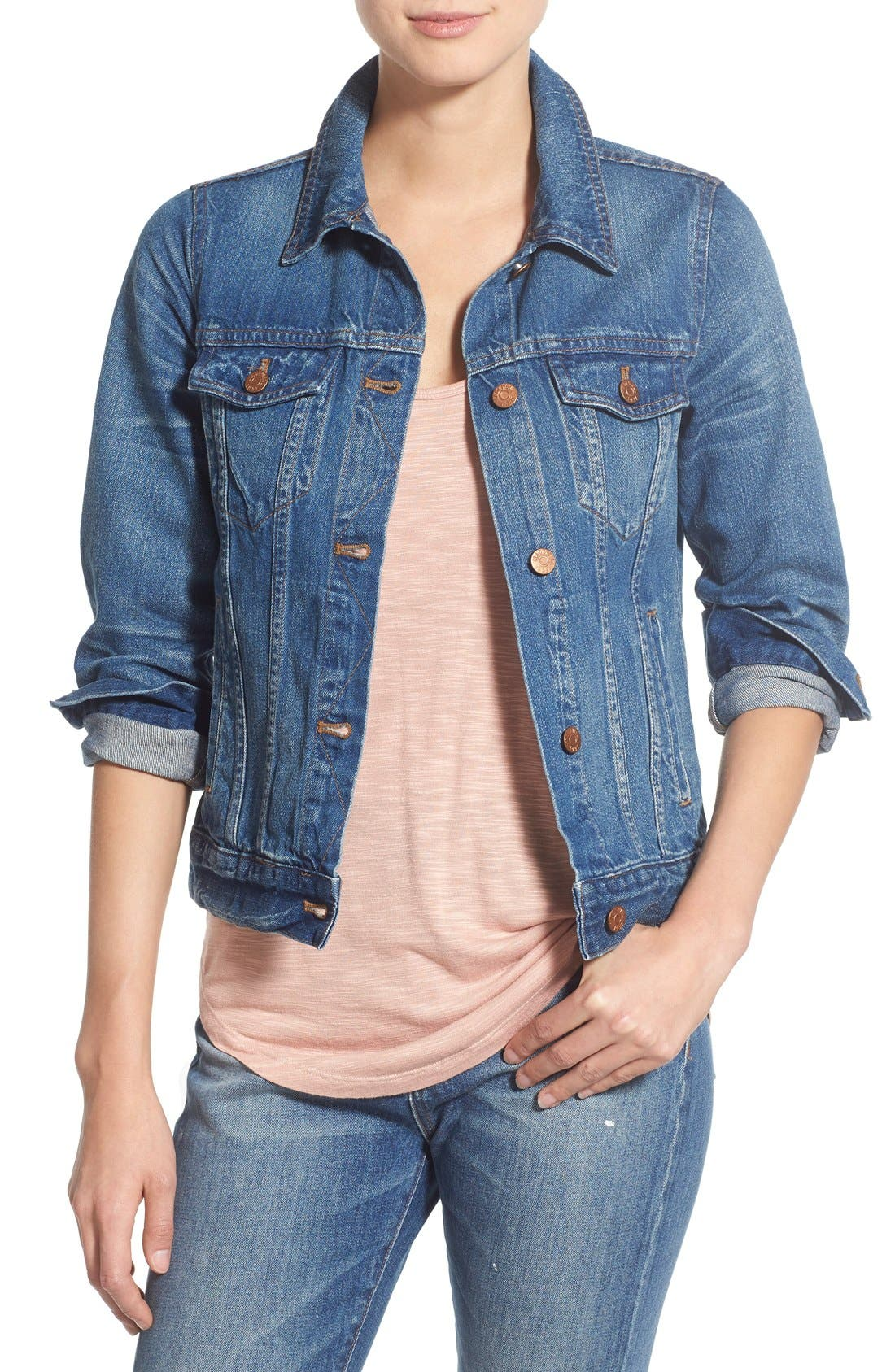 Denim Jacket,                         Main,                         color, PINTER WASH