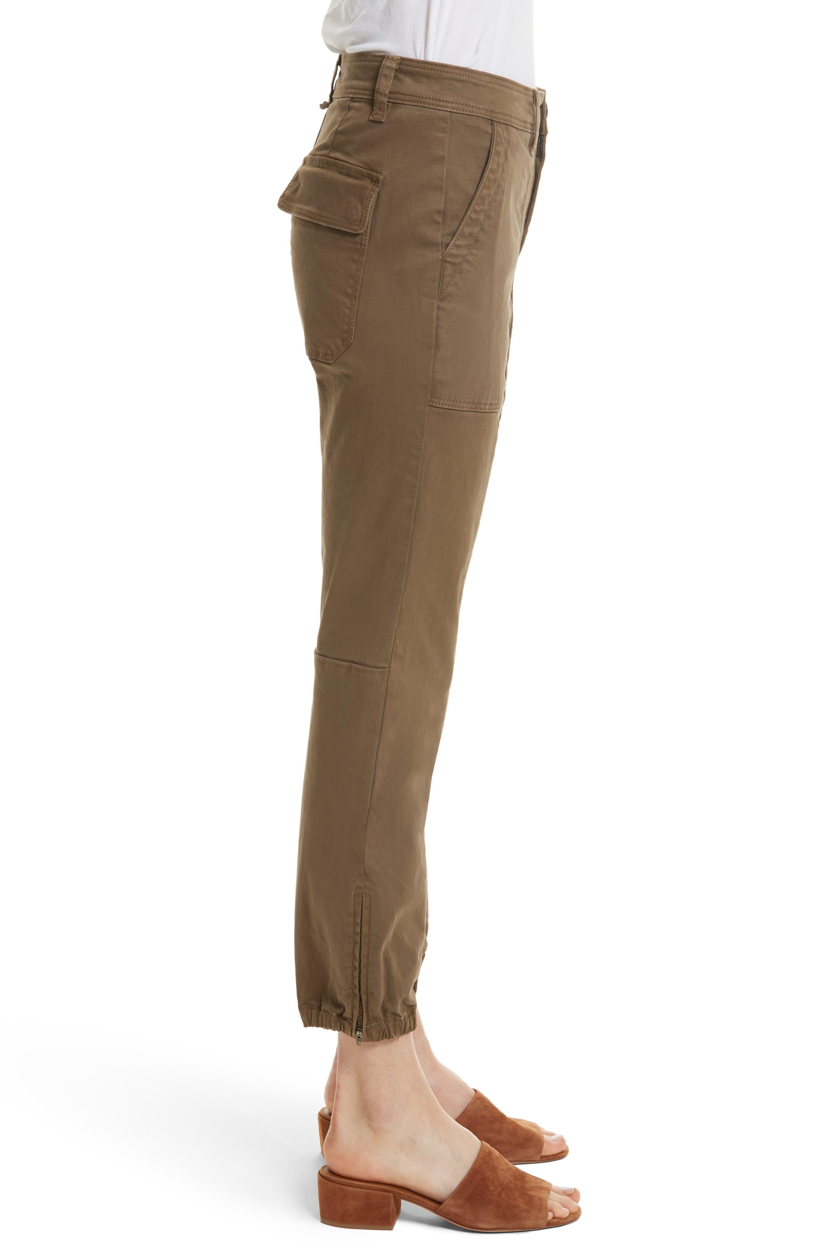 Crop Twill Utility Pants,                             Alternate thumbnail 3, color,                             302