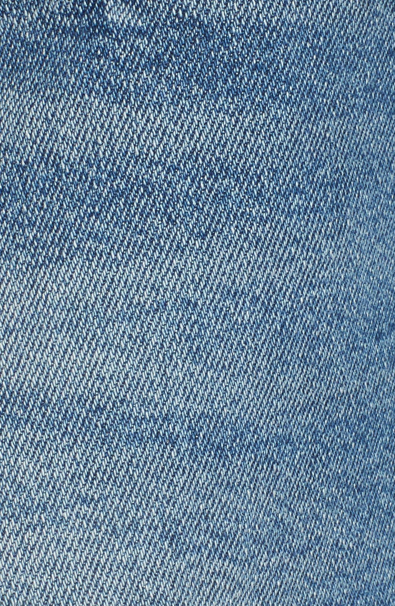Georgia May Distressed Denim Shorts,                             Alternate thumbnail 6, color,                             450