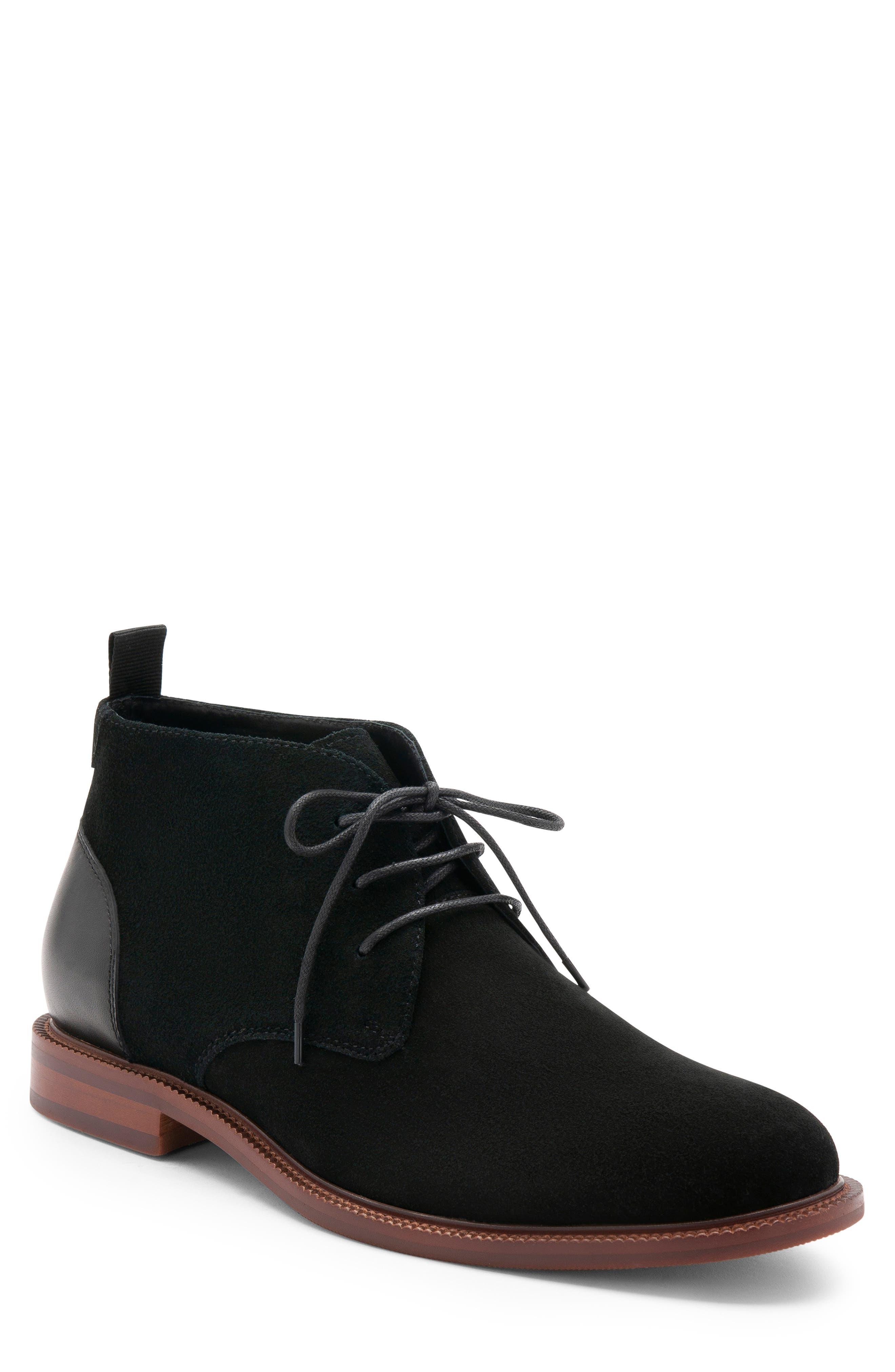 Keith Waterproof Chukka Boot,                         Main,                         color, BLACK SUEDE