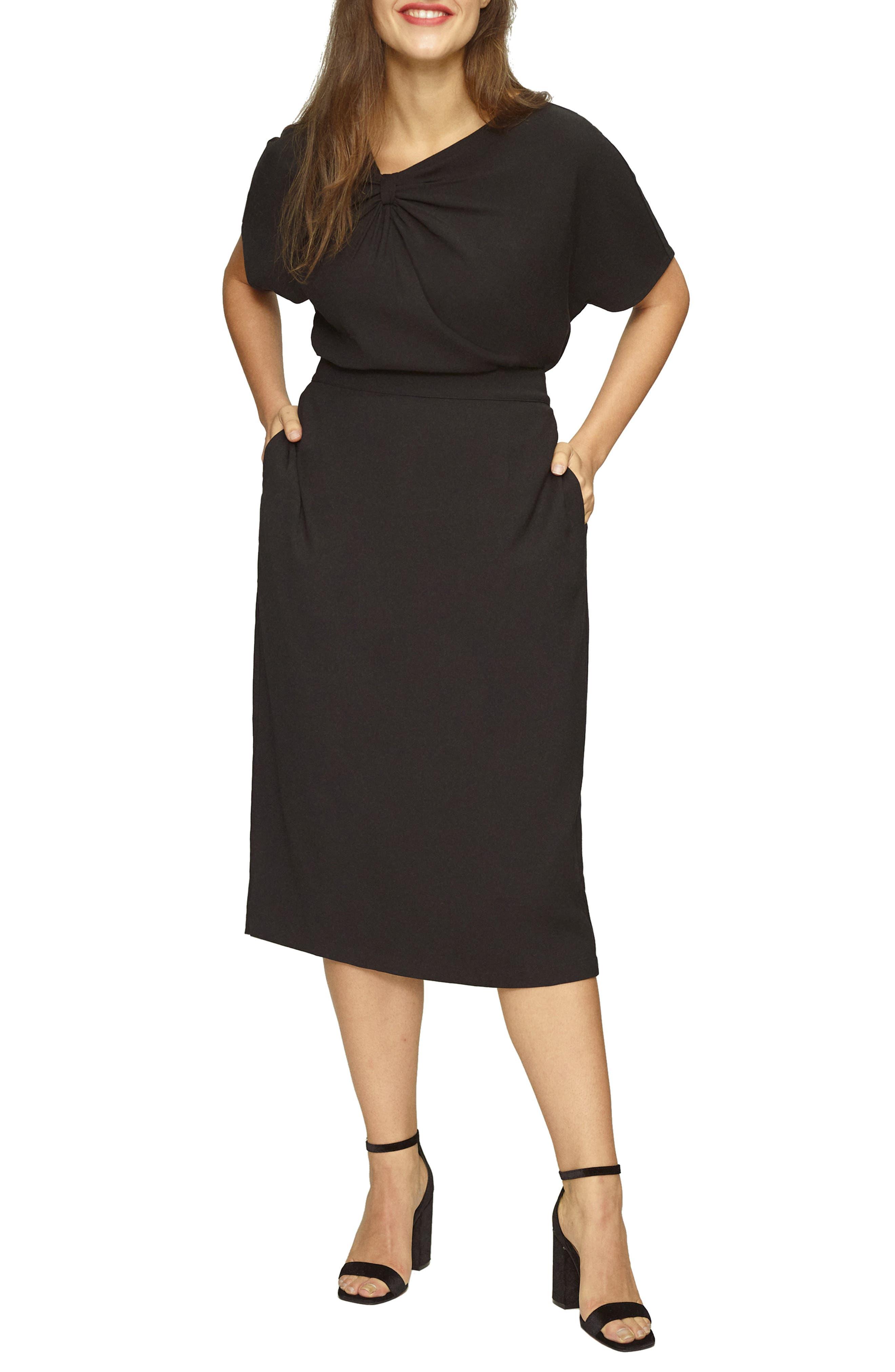 Twill Pencil Skirt,                             Main thumbnail 1, color,                             BLACK
